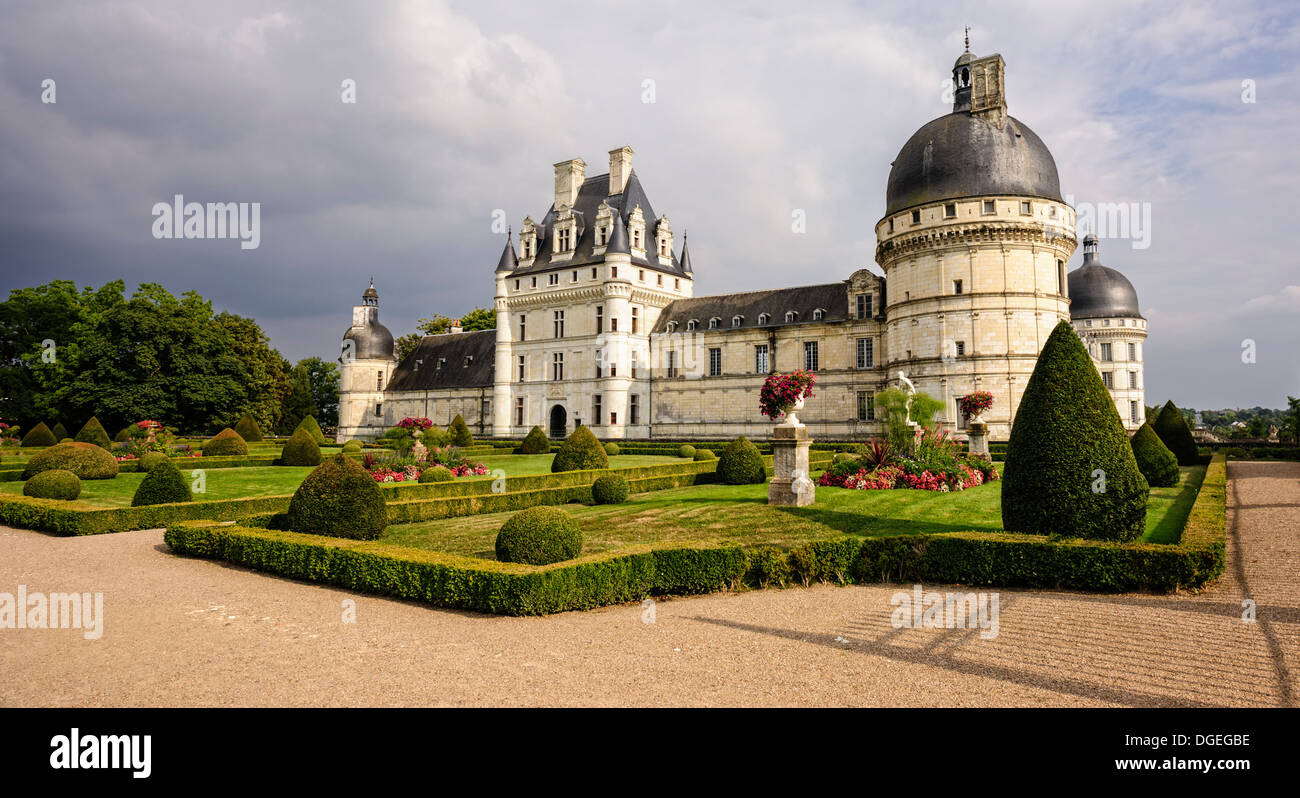 Chateau of Valencay in the Loire Valley, Indre, departement, France - Stock Image