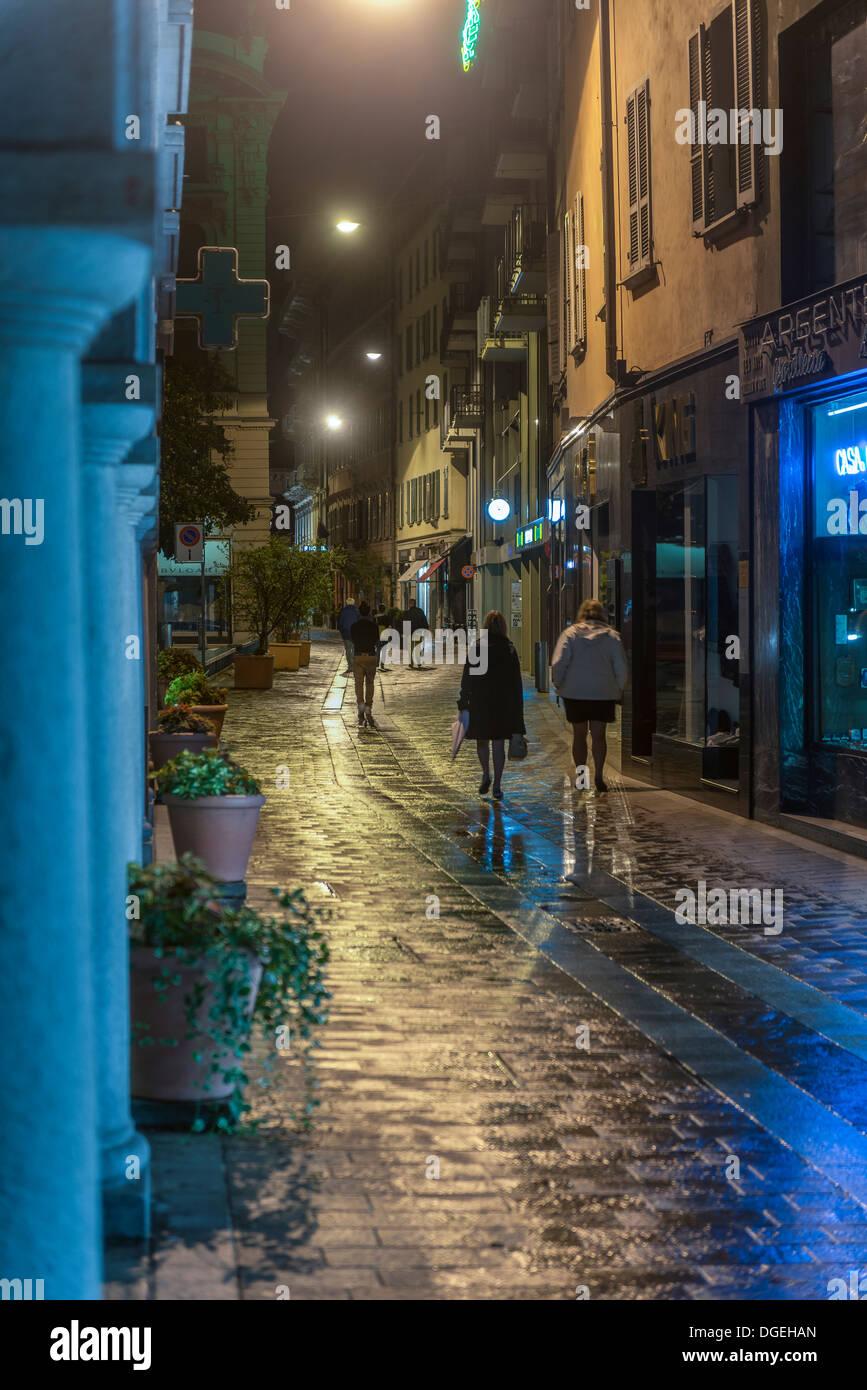 Via Nassa street. Lugano. Ticino. Switzerland Stock Photo