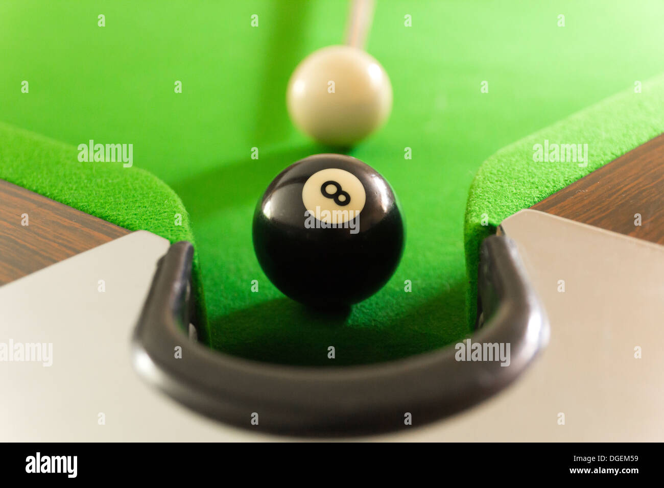 Eightball about to enter the pocket - Stock Image