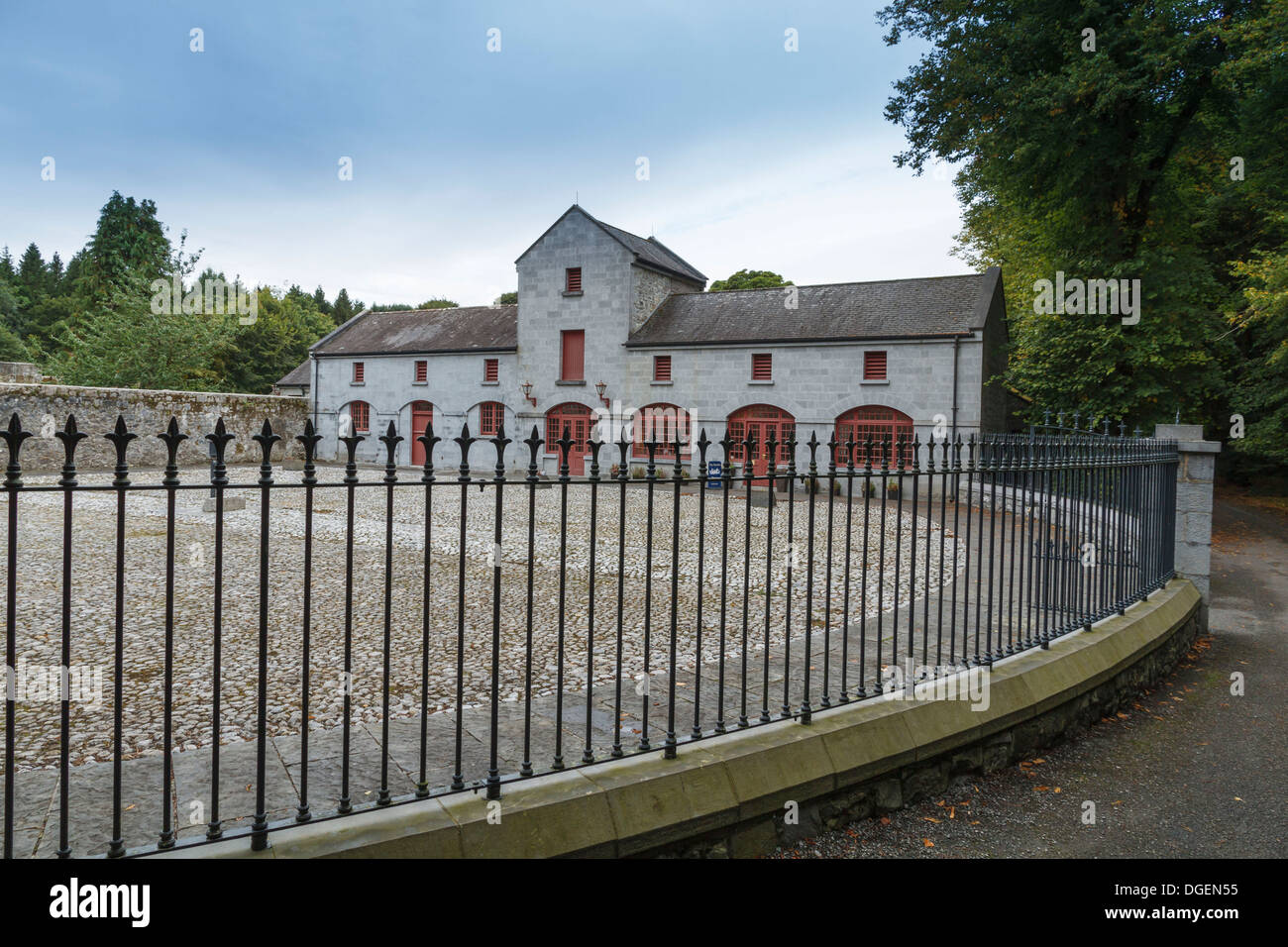 The courtyard and stables at Coole House, Galway, Ireland - Stock Image