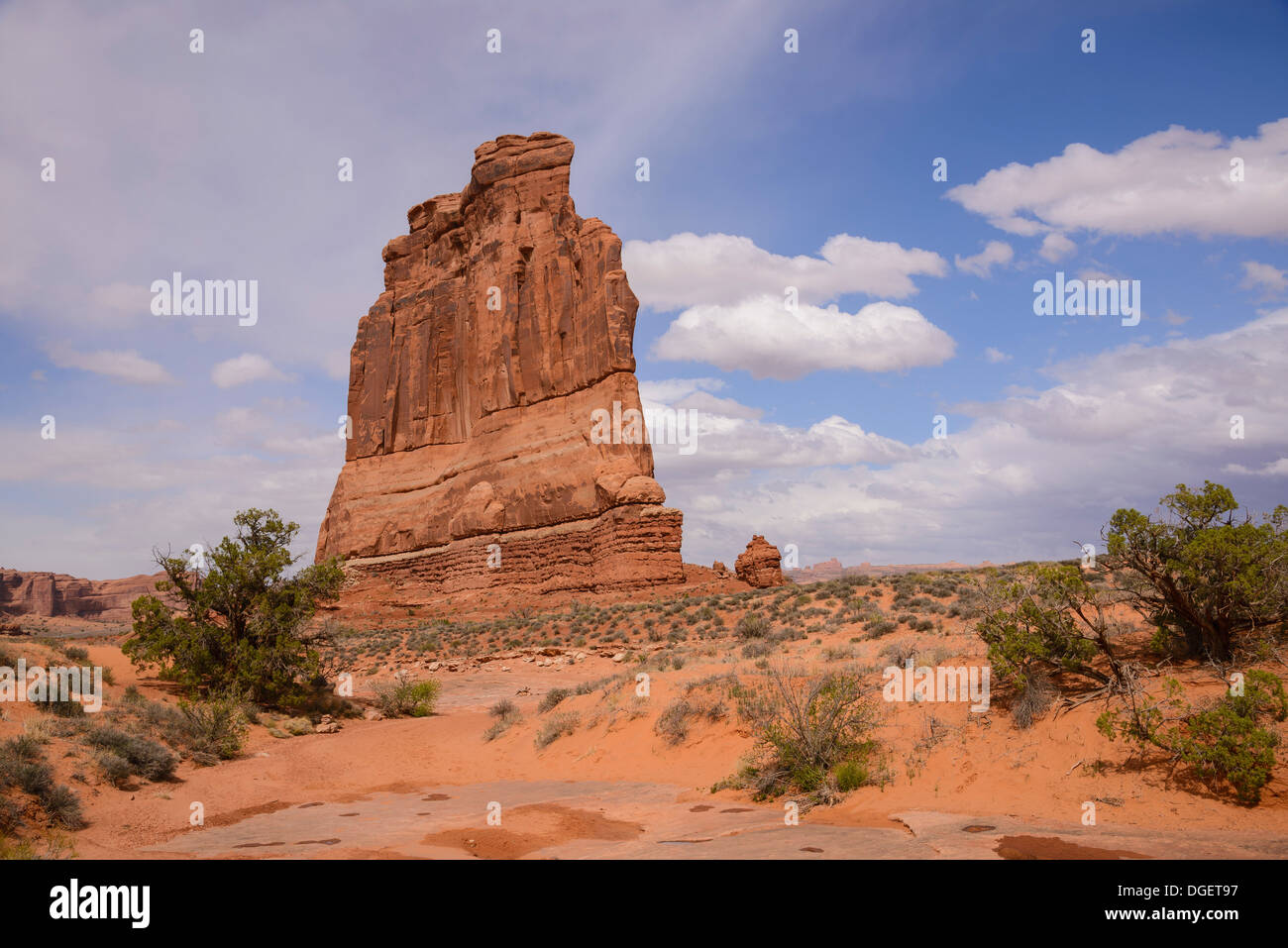 The Organ, Courthouse Towers, Arches National Park, Utah, USA - Stock Image