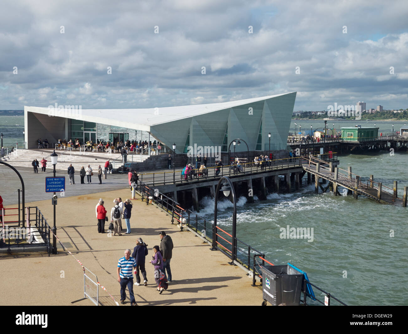 Snack bar restaurant at Southend Pier - Stock Image