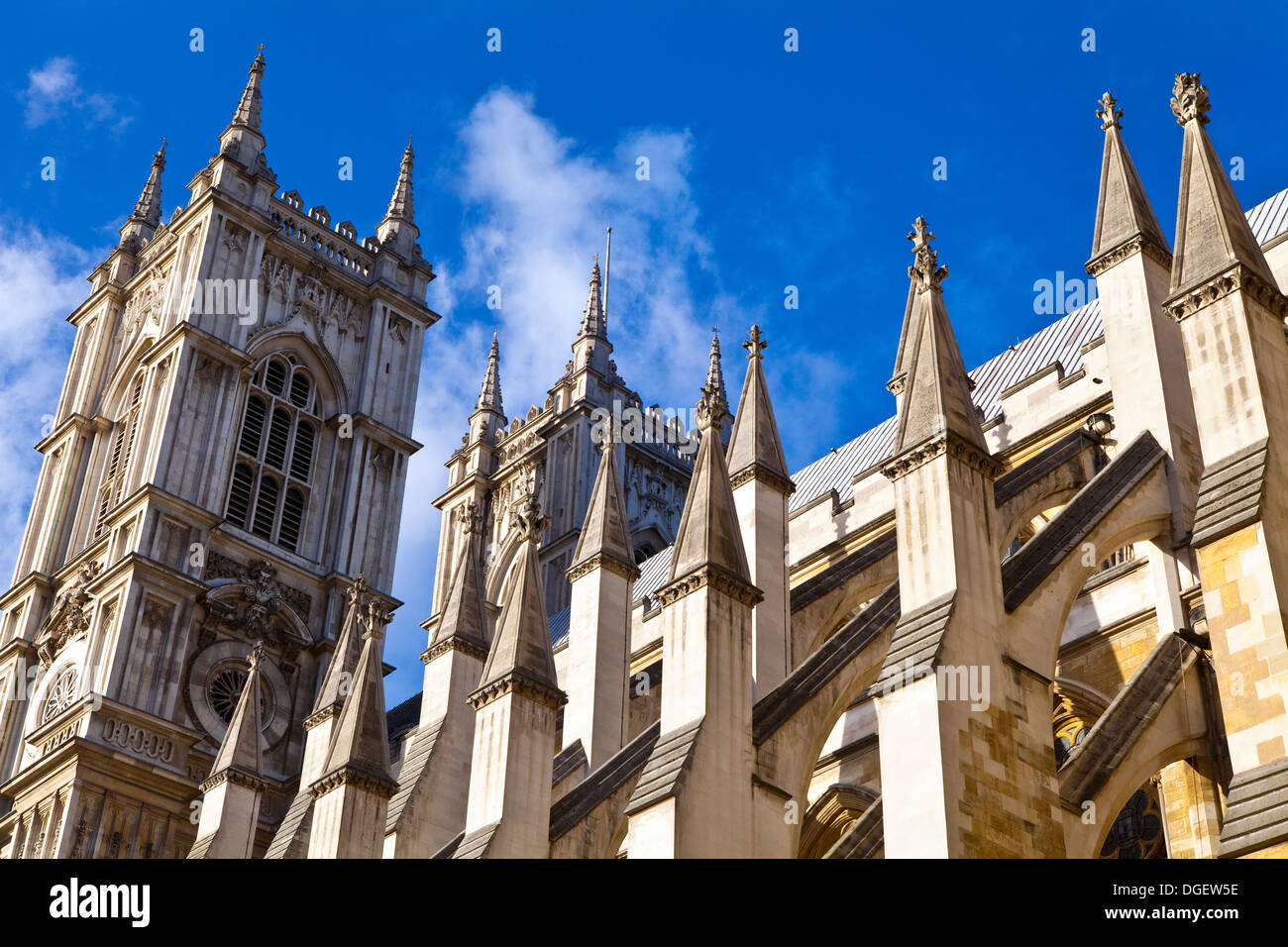 Westminster Abbey in London. - Stock Image
