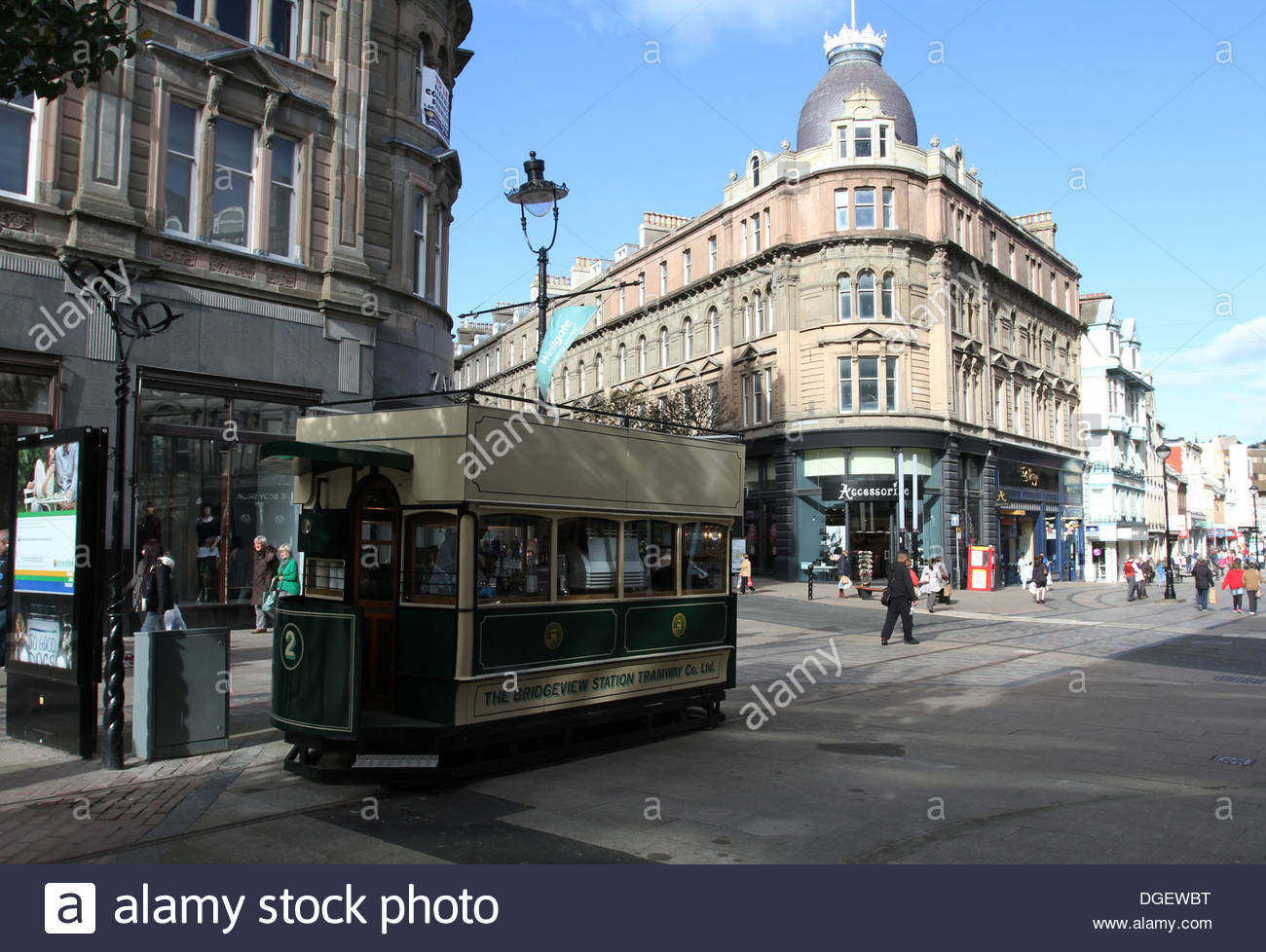 Auld Tram Coffee Shop in renovated horse drawn tram Dundee Scotland October 2013 - Stock Image