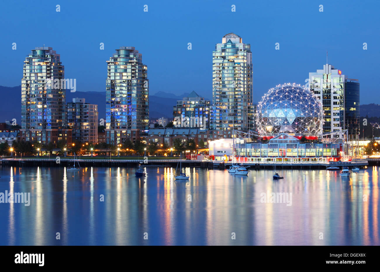 Vancouver in British Columbia, Canada - Stock Image