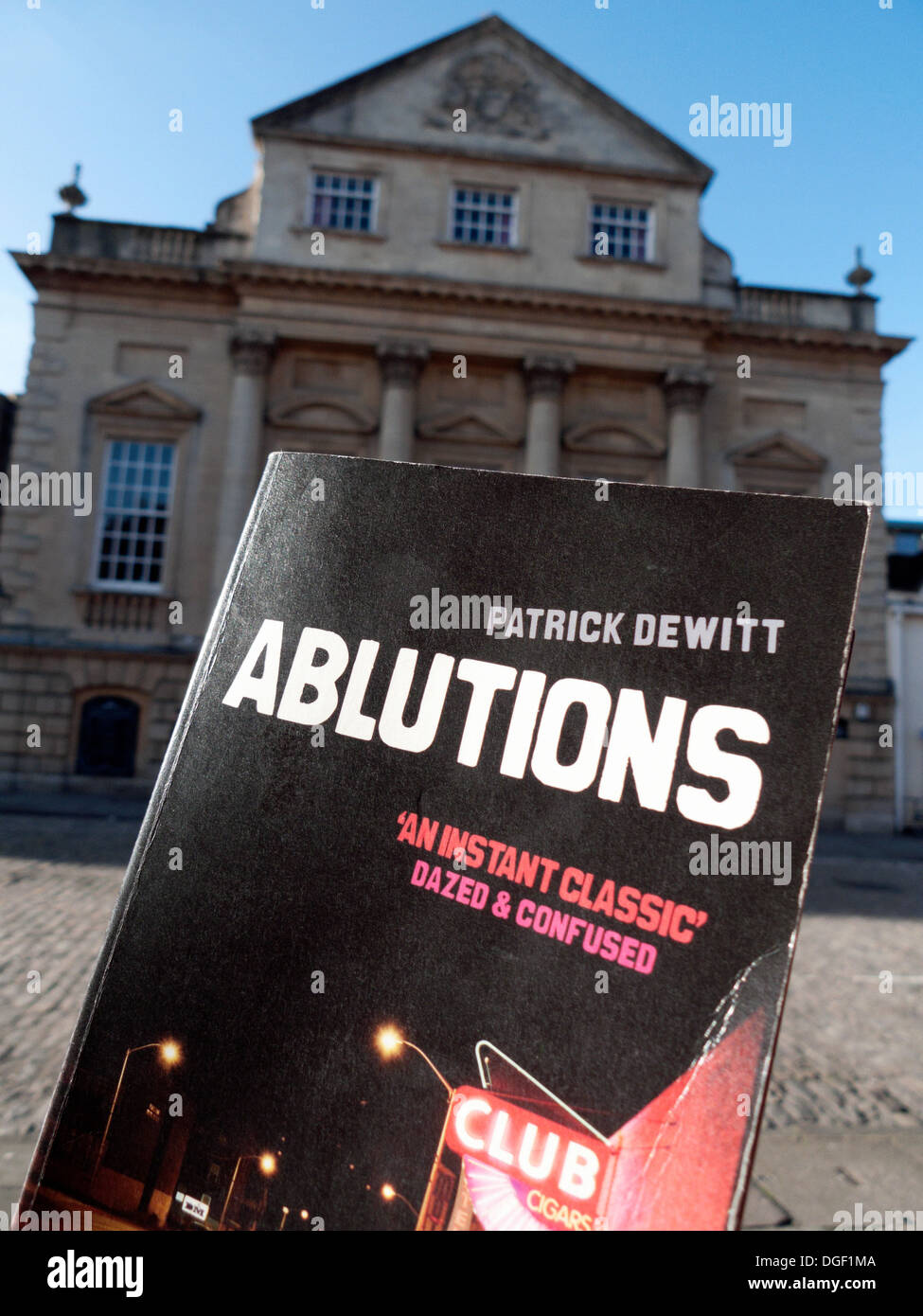 Patrick deWitt's book 'Ablutions'  production by Fellswoop Theatre at the Bristol Old Vic Theatre Bristol UK 2013 KATHY DEWITT - Stock Image