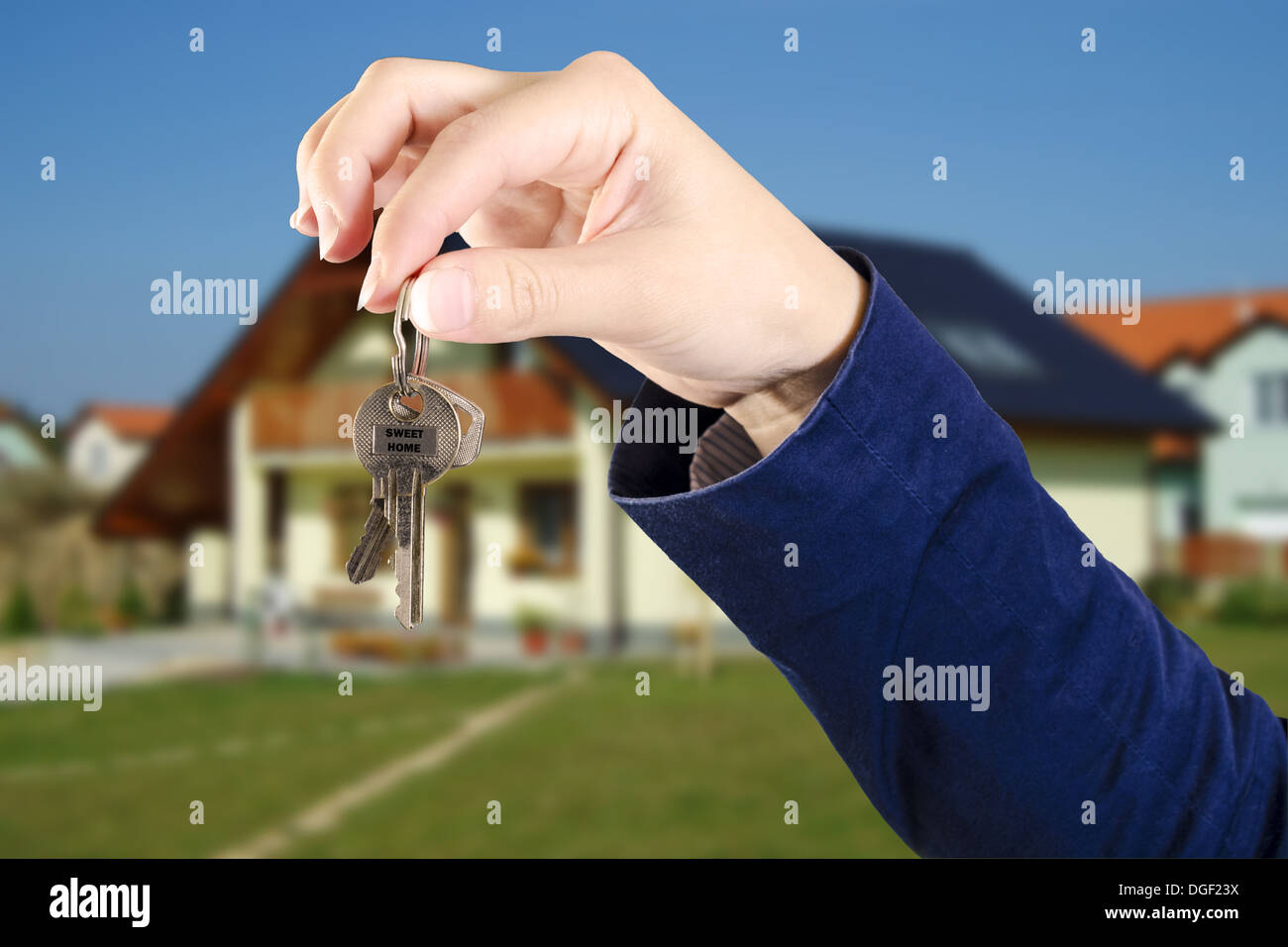 Keys from a new home - Stock Image