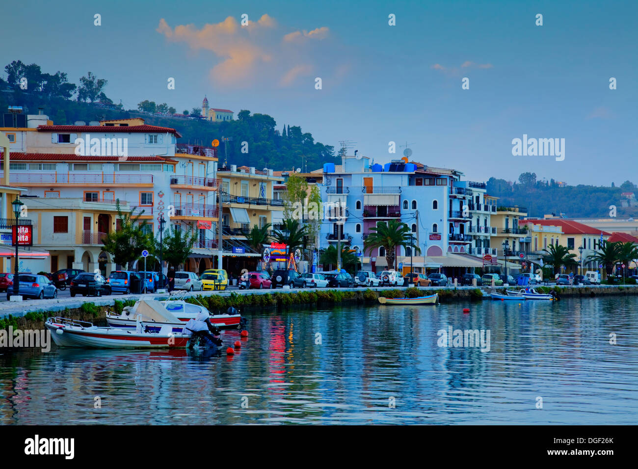 Zakynthos Town, Zakynthos (Zante), Greece - Stock Image