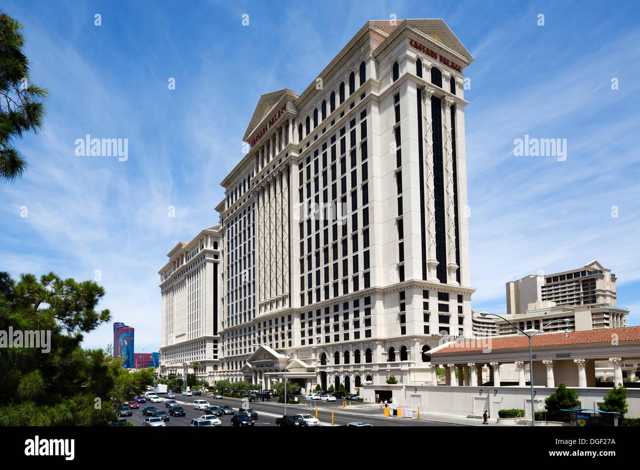 Caesars Palace hotel and casino, viewed from Flamingo Road, Las Vegas, Nevada, USA - Stock Image