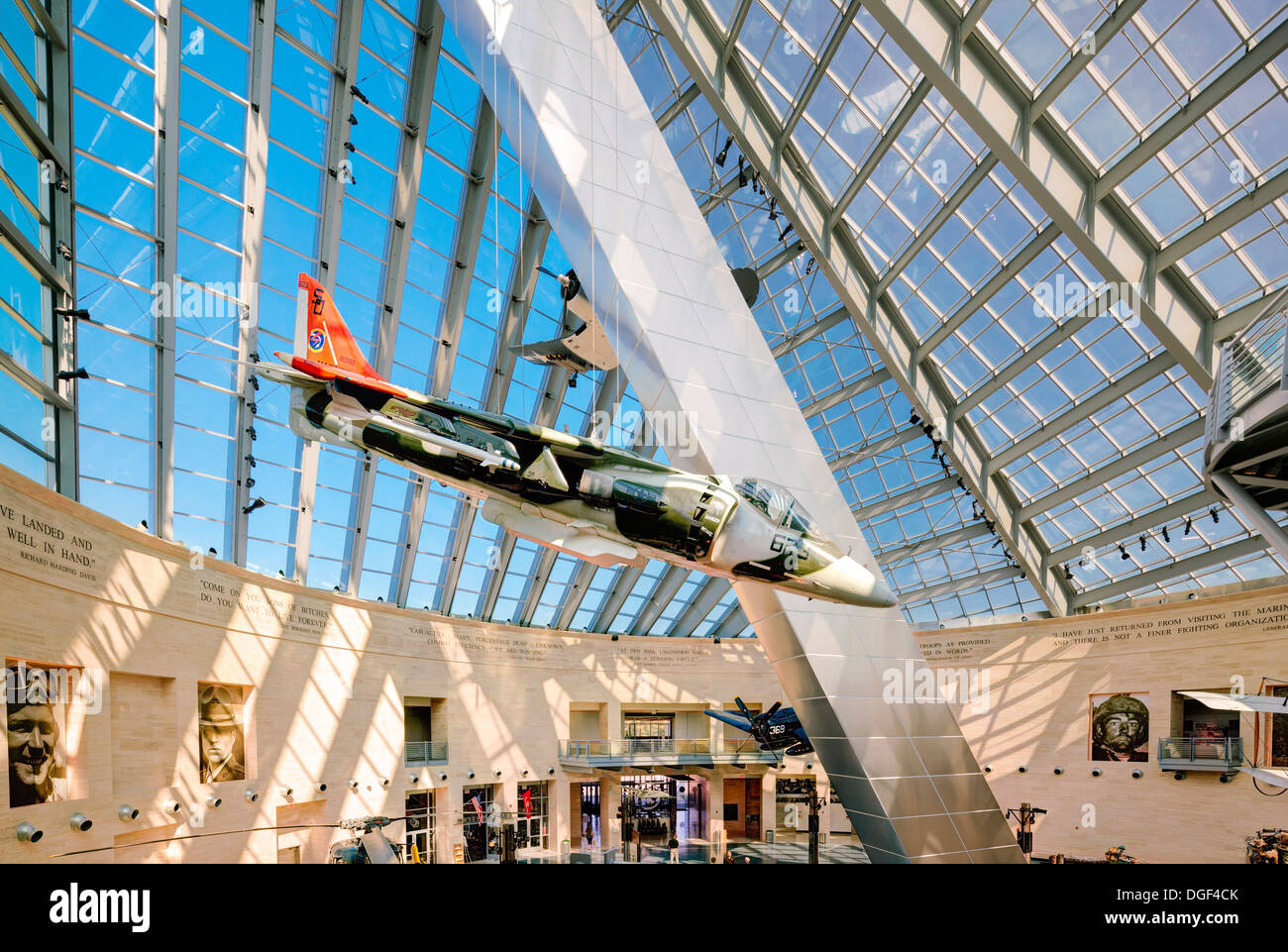 Inside the National Museum of the Marine Corps in MCB ...