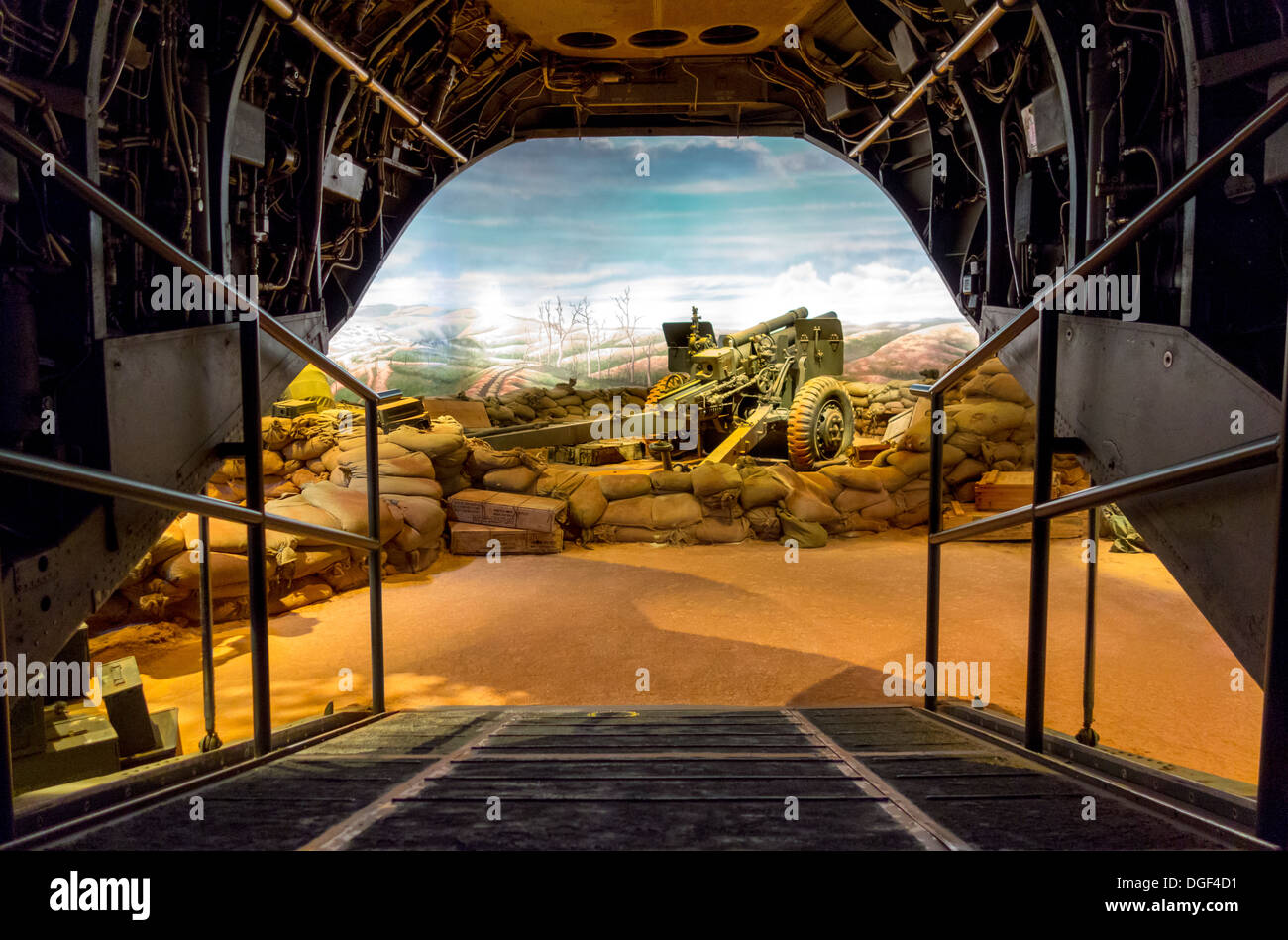 National Museum of the Marine Corps. Immersive Vietnam Khe Sanh Hill 881 South gallery exhibit display. Quantico, VA, USA. - Stock Image