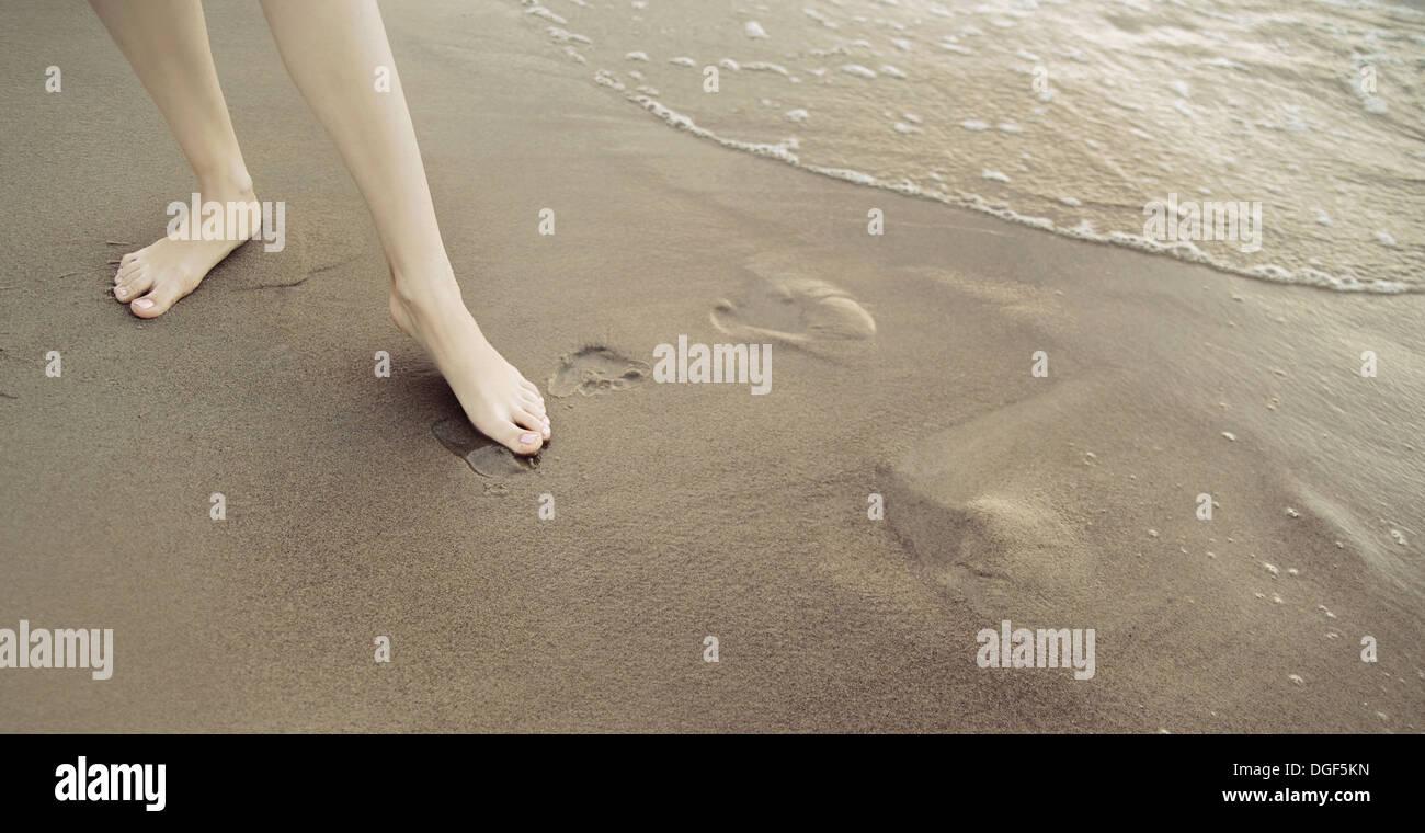 Photo presenting shapely female legs - Stock Image
