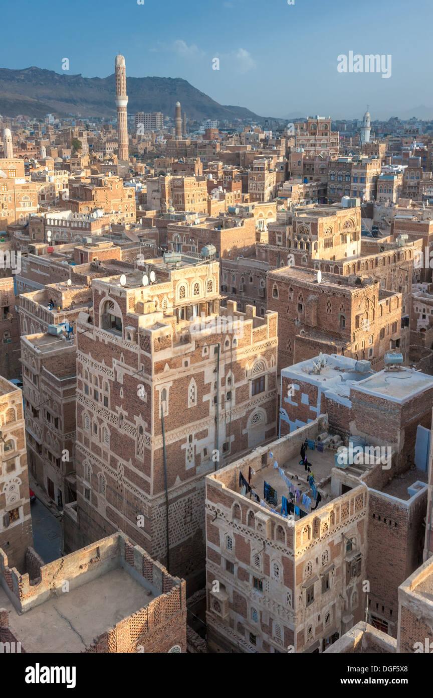 Panorama of Sanaa, Yemen - Stock Image
