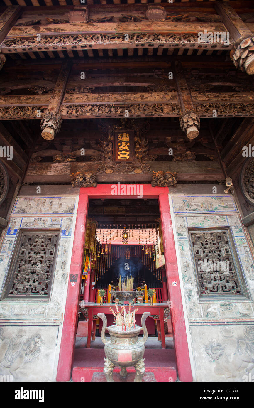 Kuan An Keng Shrine was built by a group of Chinese and an image of Chao Mae Kuan-in was enshrined inside. Stock Photo