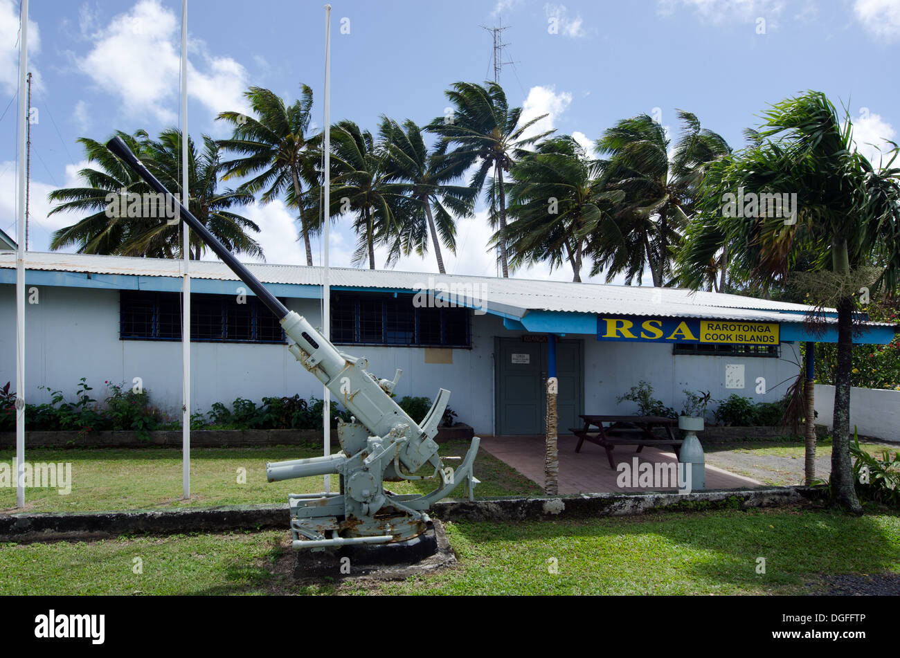 Rarotonga RSA Club in Avarua Rarotonga Cook Islands - Stock Image
