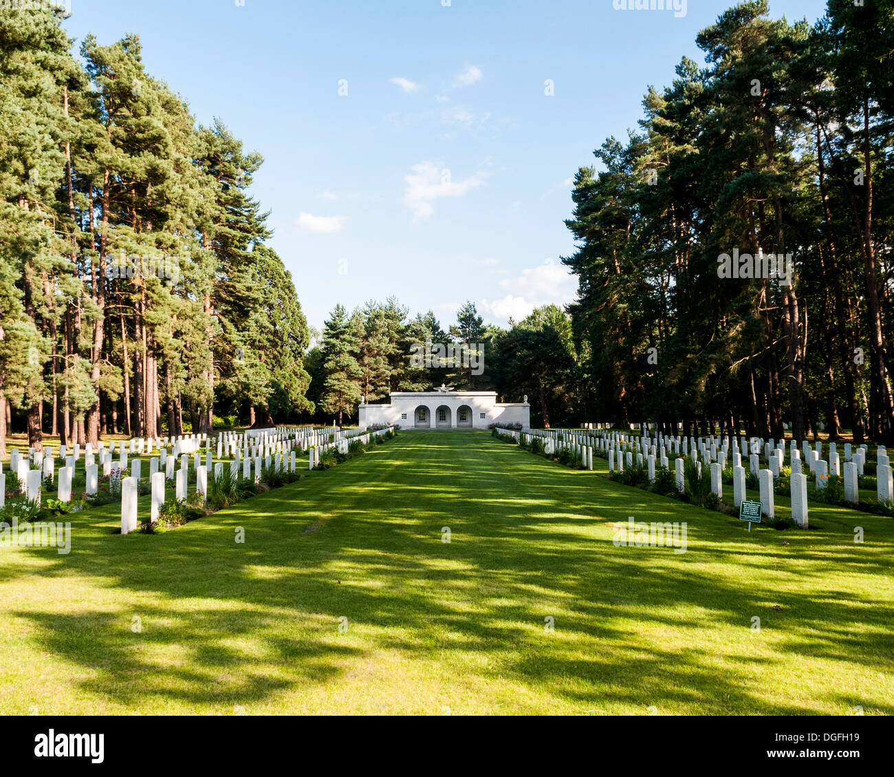 Brookwood Military Cemetery And Memorials, Brookwood, United Kingdom. Architect: Unknown, 2013. Stock Photo