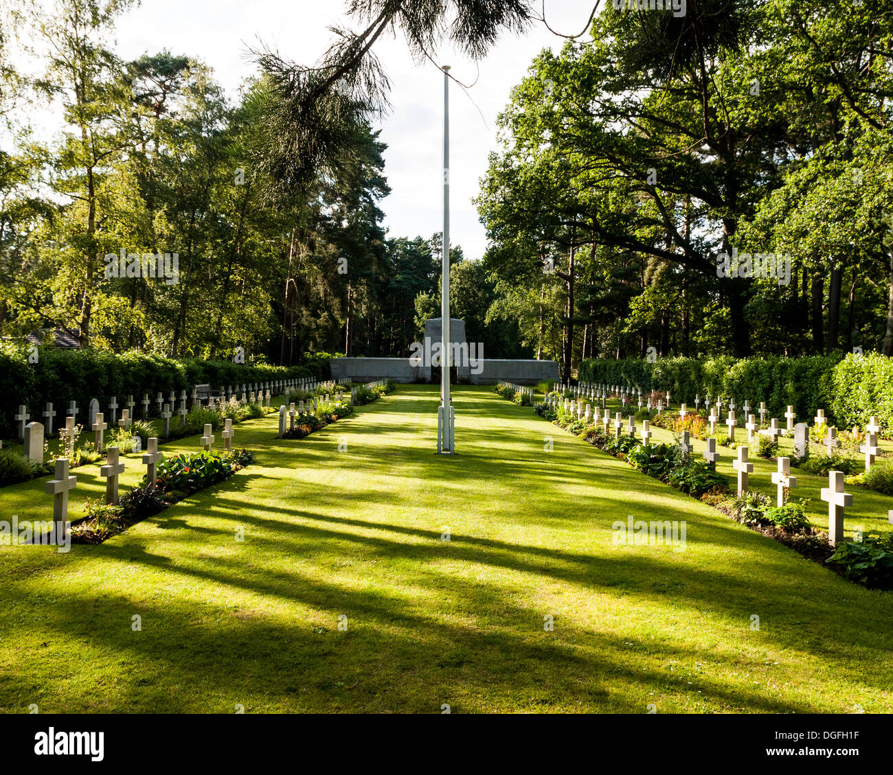 Brookwood Military Cemetery and memorials, Brookwood, United Kingdom. Architect: unknown, 2013. Graves and memorial. Stock Photo