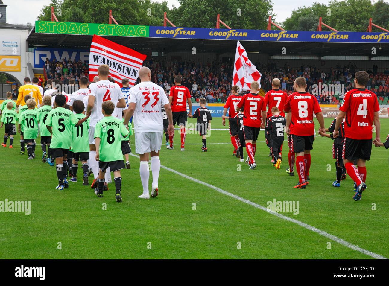 sports, football, Regional League West, 2013/2014, Rot Weiss Oberhausen versus Rot Weiss Essen 2:0, Stadium Niederrhein Stock Photo