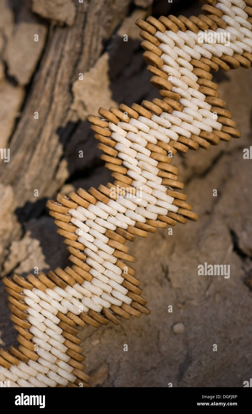 Ostrich shell jewellery Stock Photo