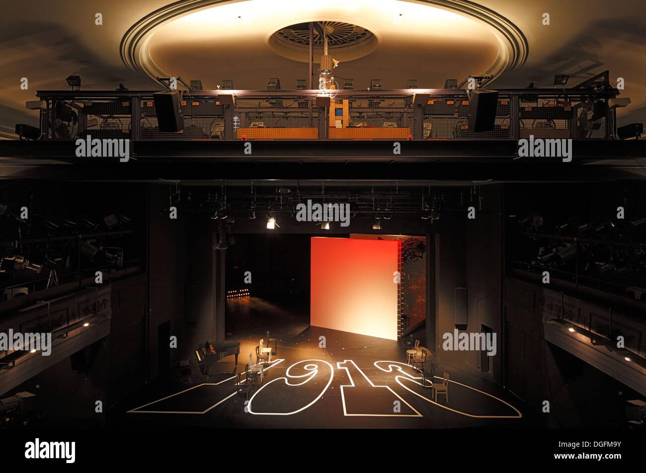 D-Oberhausen, Ruhr area, Lower Rhine, Rhineland, North Rhine-Westphalia, NRW, Theatre Oberhausen, theatre stage, Stock Photo