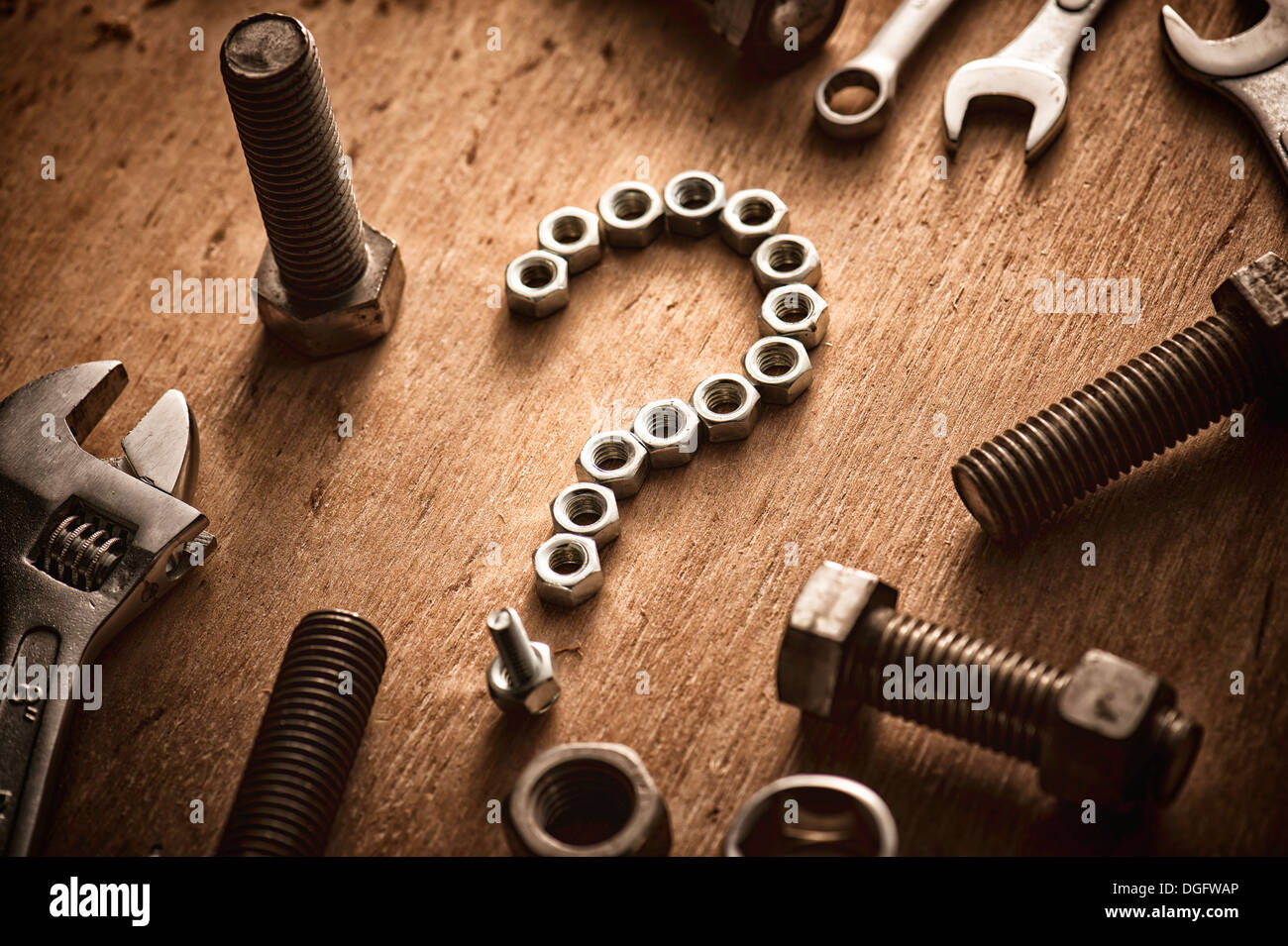 tools making a question mark shape stock photo 61814782 alamy