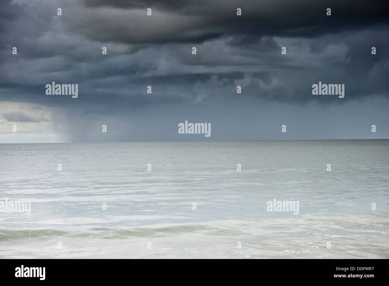 Squall over the sea - Stock Image