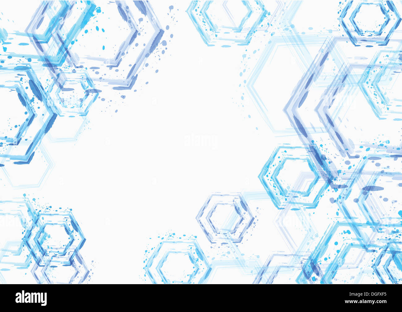 Ppt Background Template Design With Blue Shapes Stock Photo