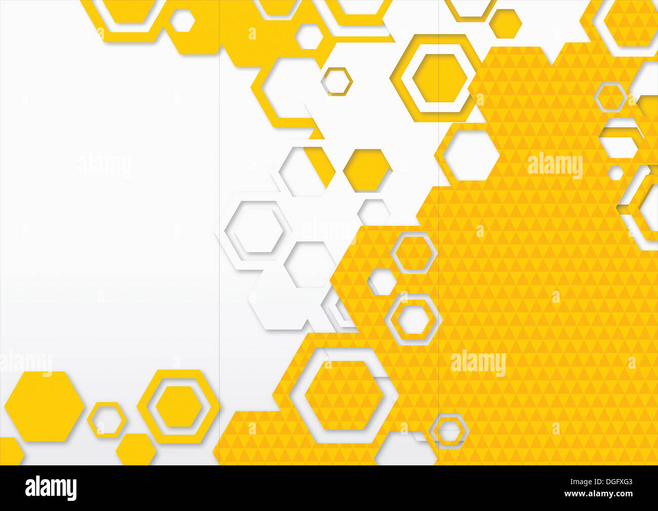 ppt background template design with yellow shapes stock photo