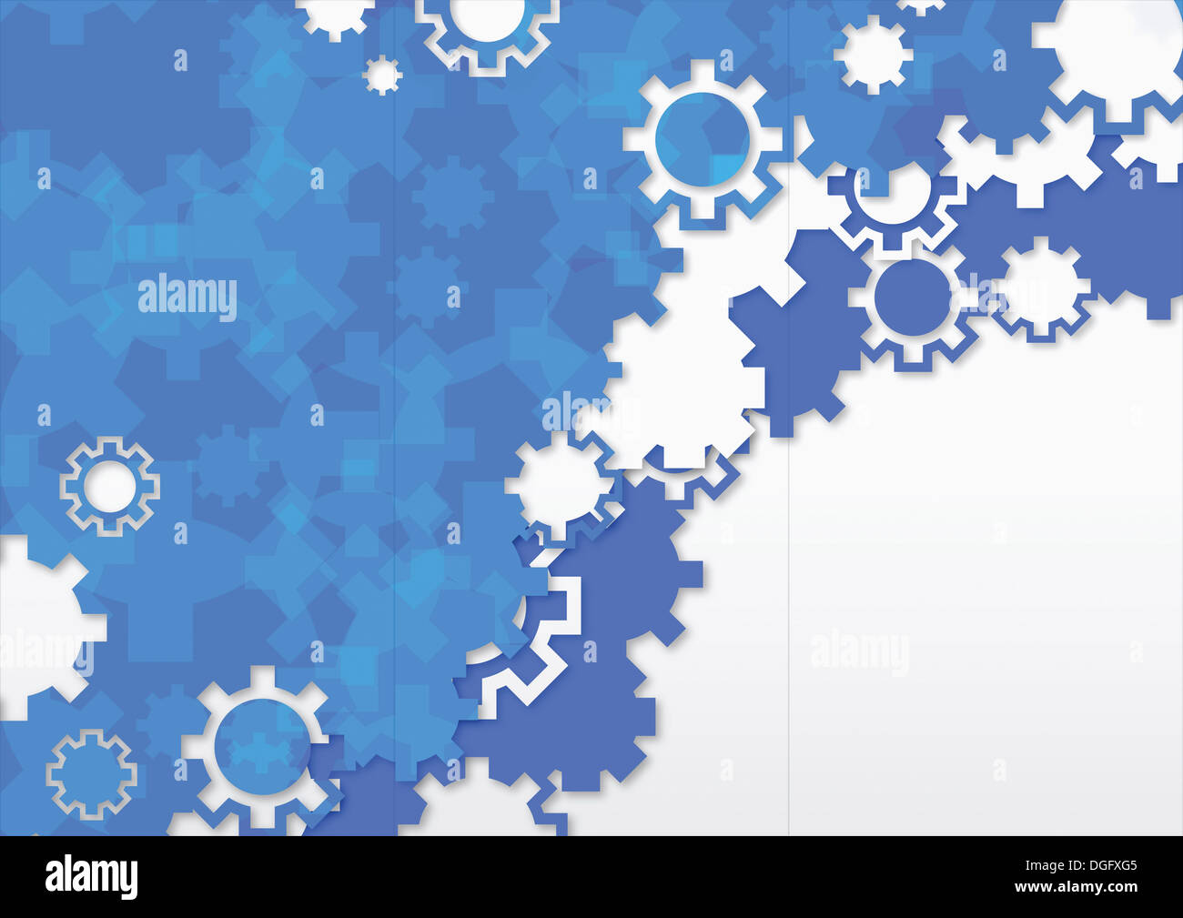 Ppt Background Template Design With Blue Setting Icons