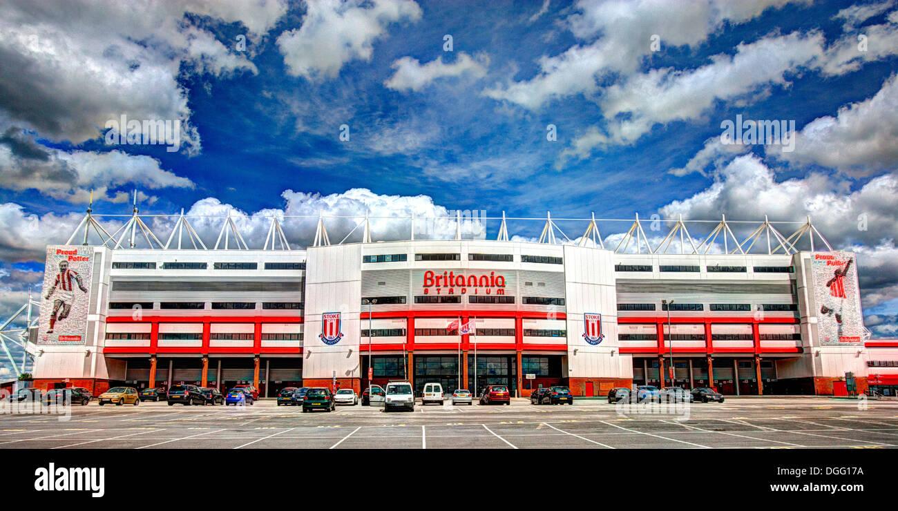 Main facade of Stoke City Football Club Stadium - Stock Image
