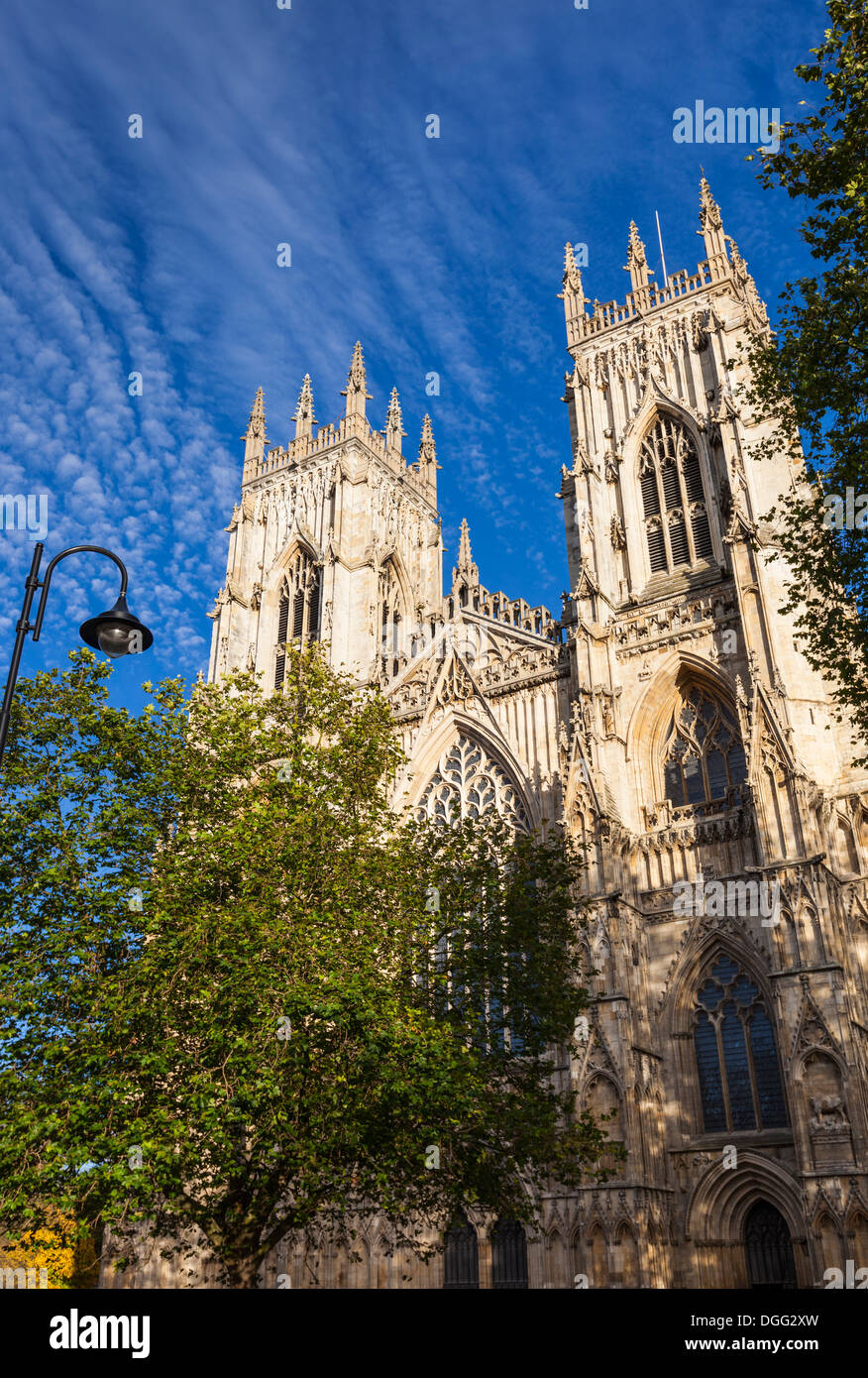 Western facade of York Minster in York, England, UK - Stock Image