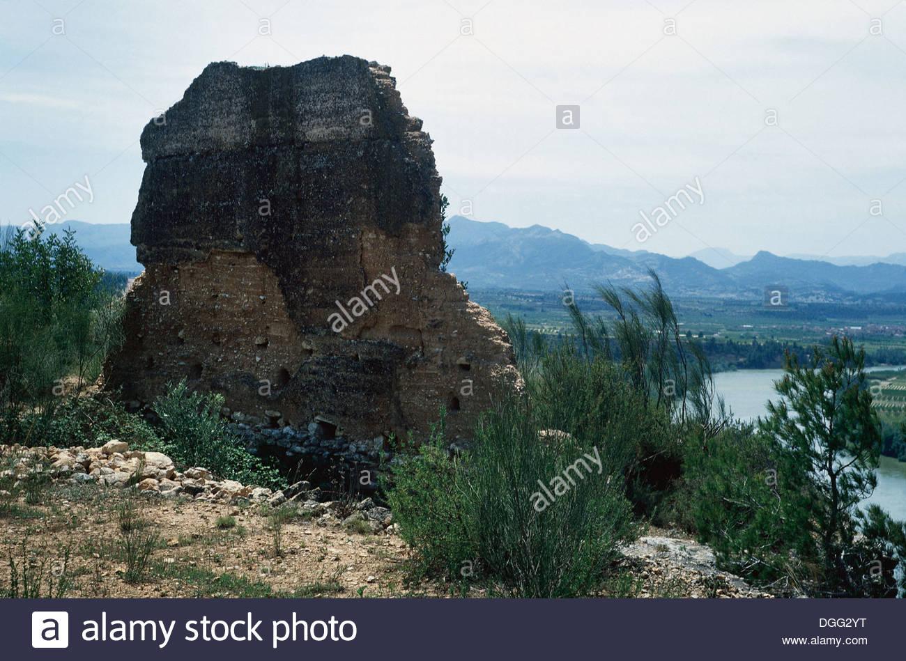 Spain. Tivissa. Iberian settlement of Castellet de Banyoles. - Stock Image