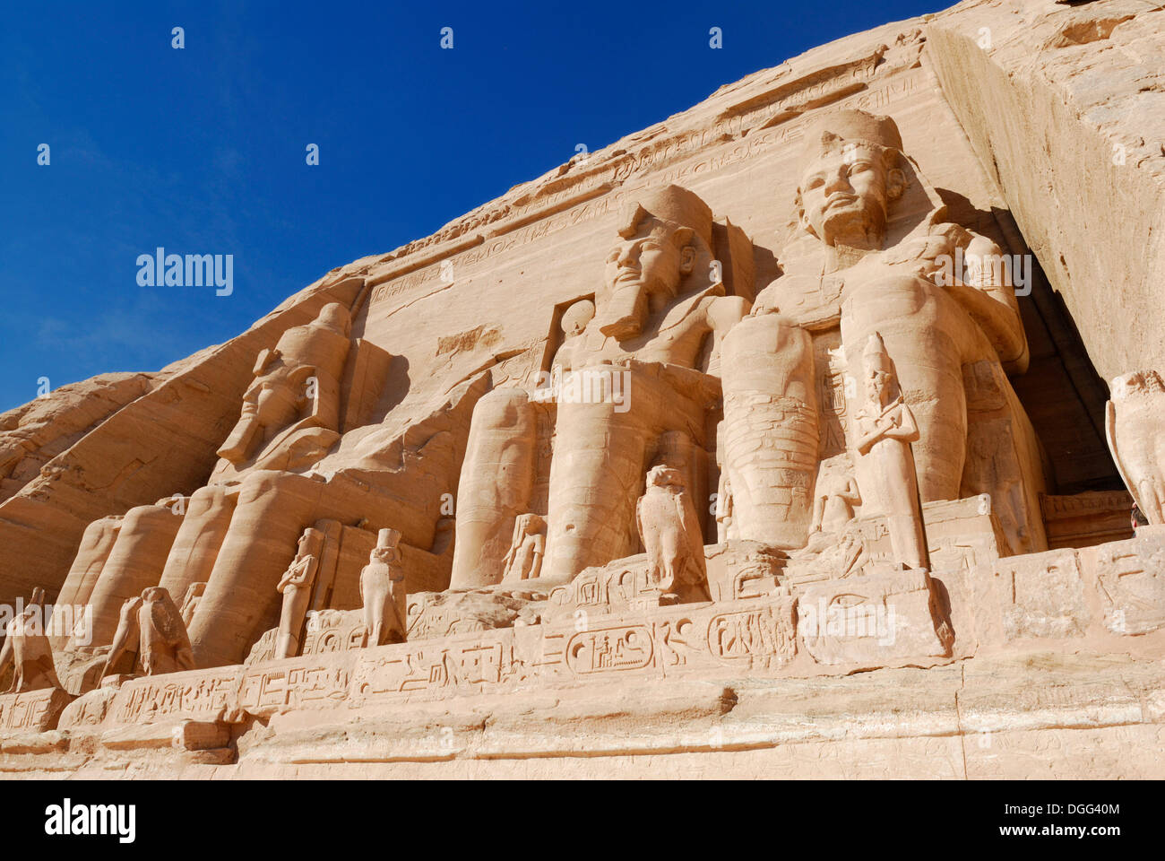 Statues in the Great Temple of Ramses II, Abu Simbel, Nubia, Egypt, Africa Stock Photo