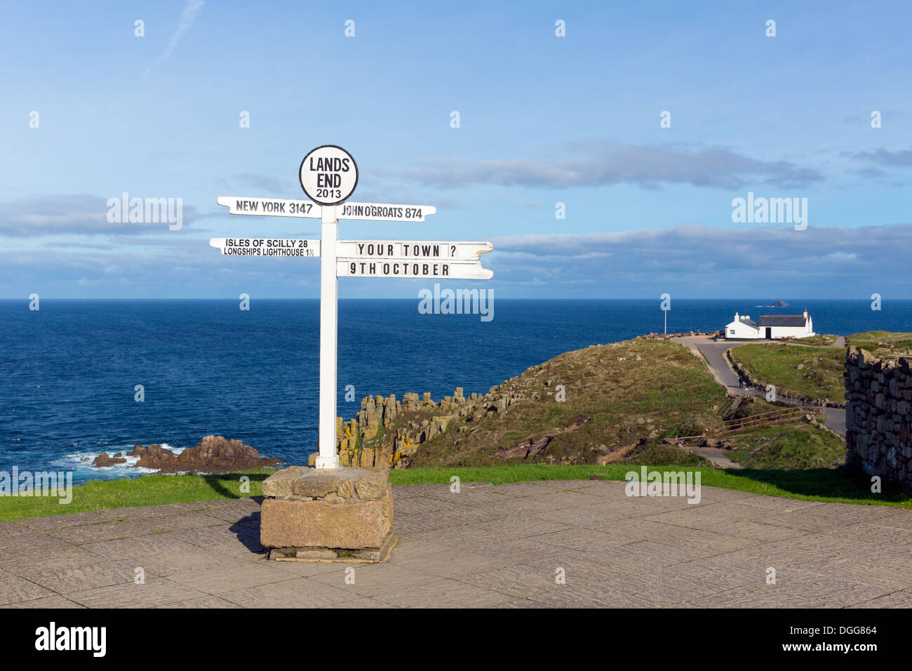 Land`s End Cornwall UK most westerly point of England UK on the Penwith peninsula eight miles from Penzance Stock Photo