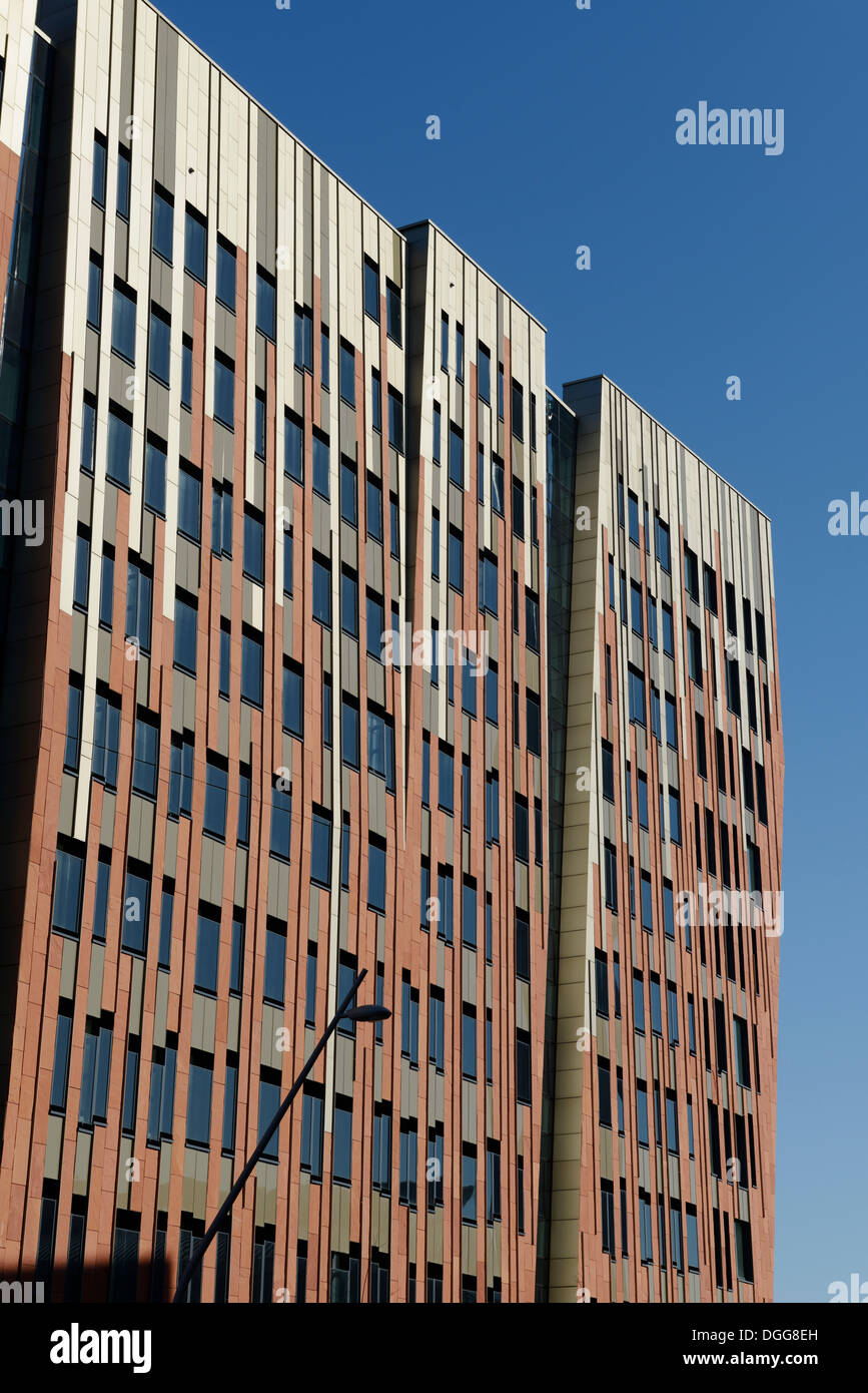 Residential and commercial building Sumatra, Ueberseequartier, HafenCity, Hamburg - Stock Image