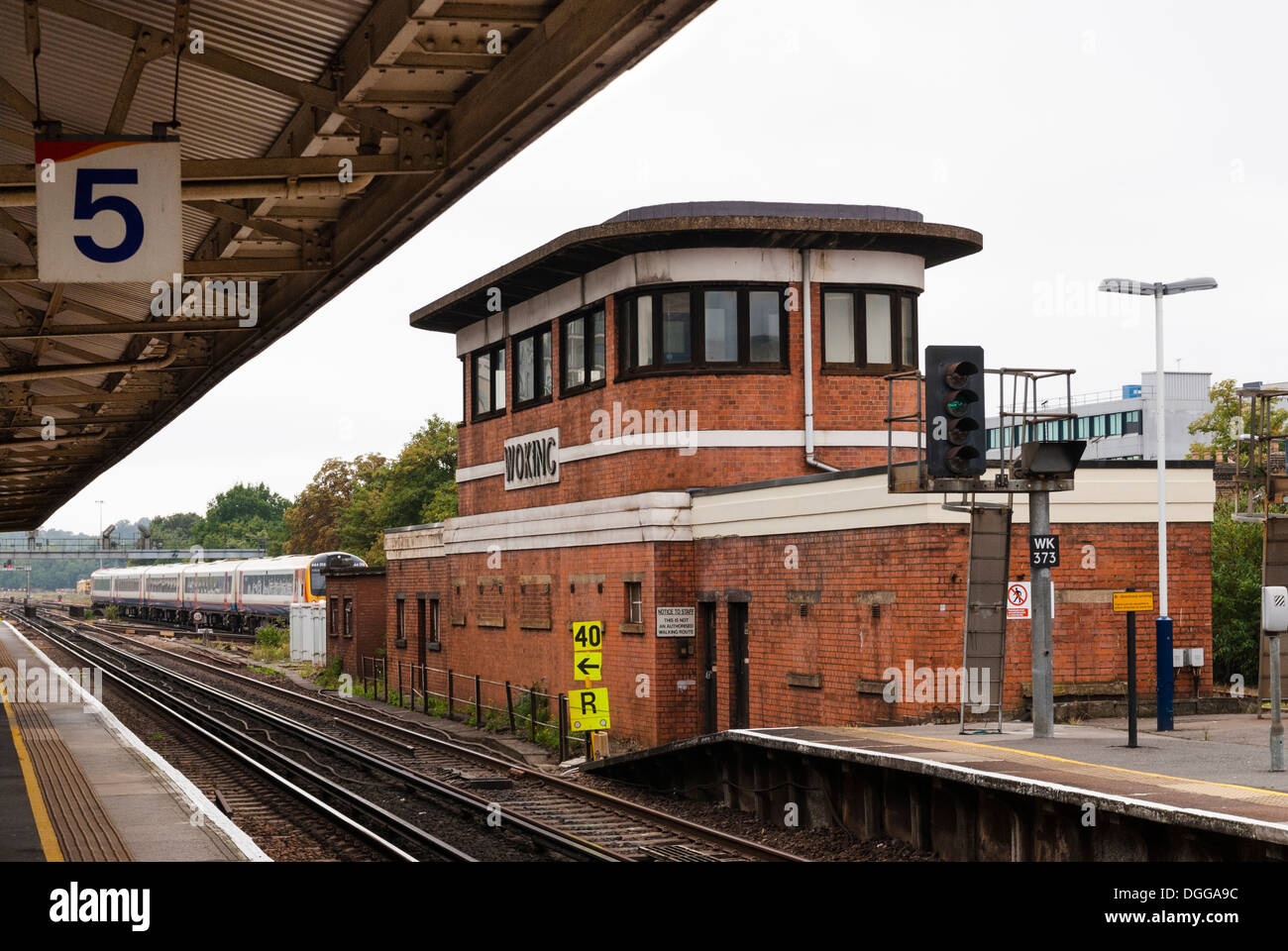 woking station signal box - Stock Image