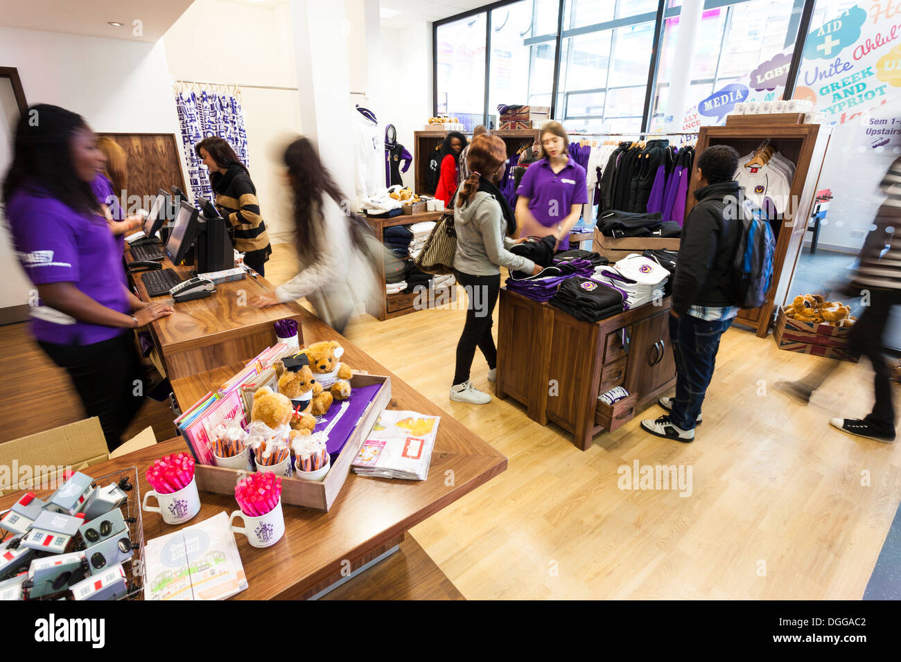 Refurbished student union shop in Portsmouth union building - Stock Image