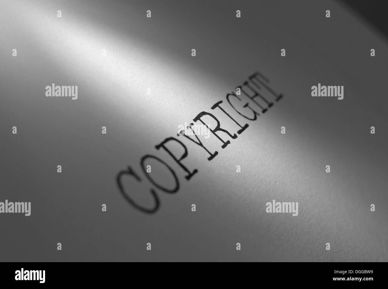 Copyright heading closeup - Stock Image