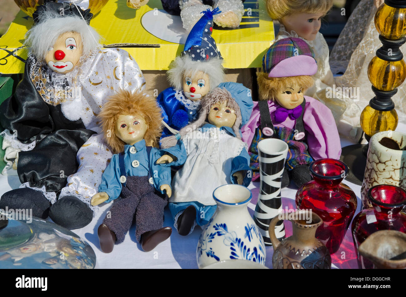 Old Clown Dolls Stock Photos & Old Clown Dolls Stock Images