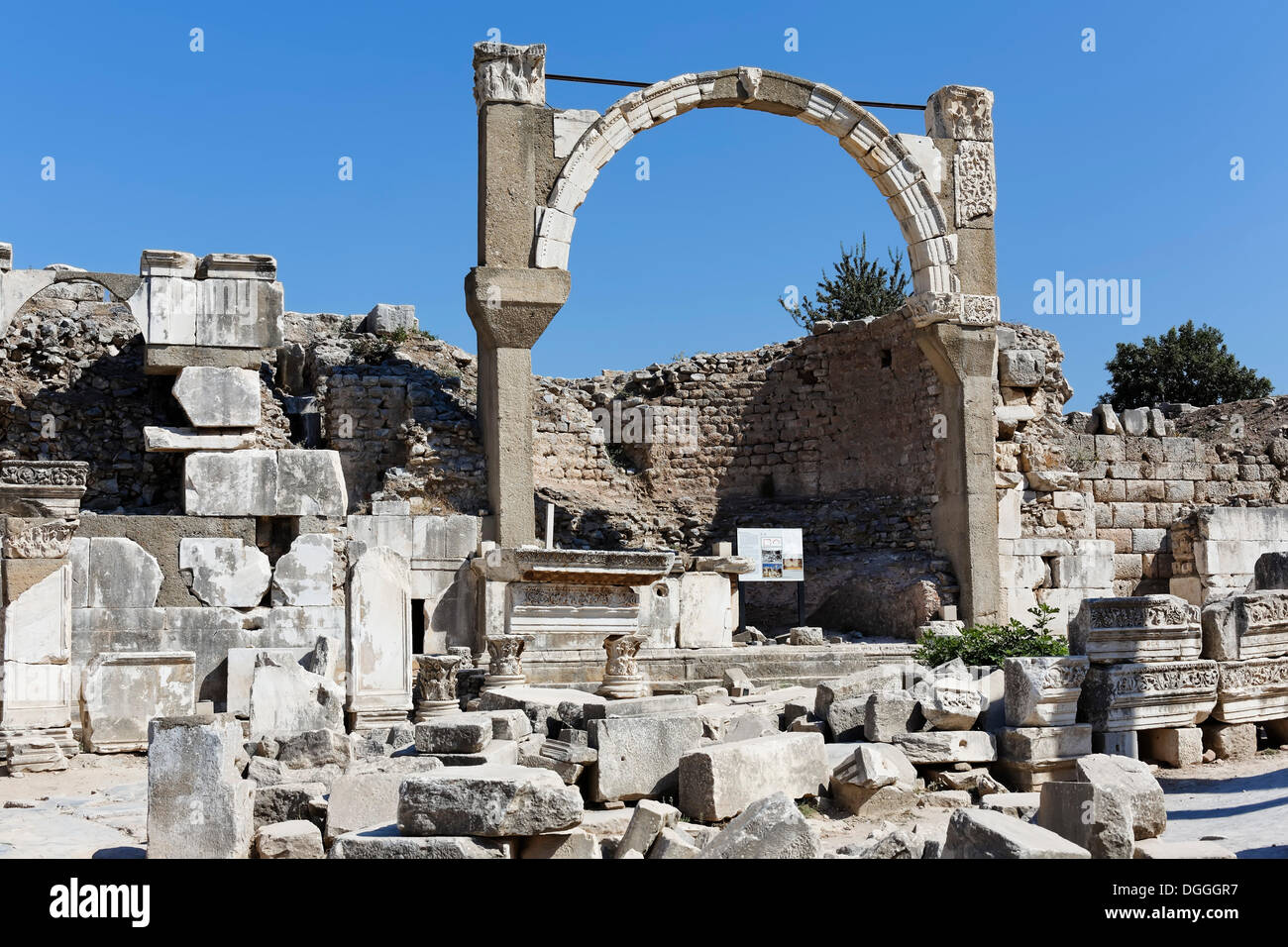 Polio Fountain, UNESCO World Heritage Site, Ephesus, Ephesos, Efes, Izmir, Turkish Aegean, western Turkey, Turkey, Asia - Stock Image