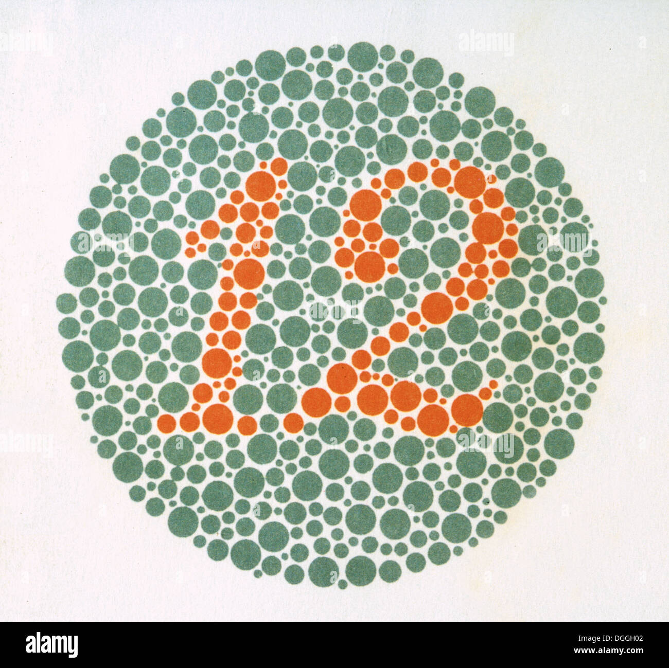The Ishihara Color Test. Color perception test for red-green color ...