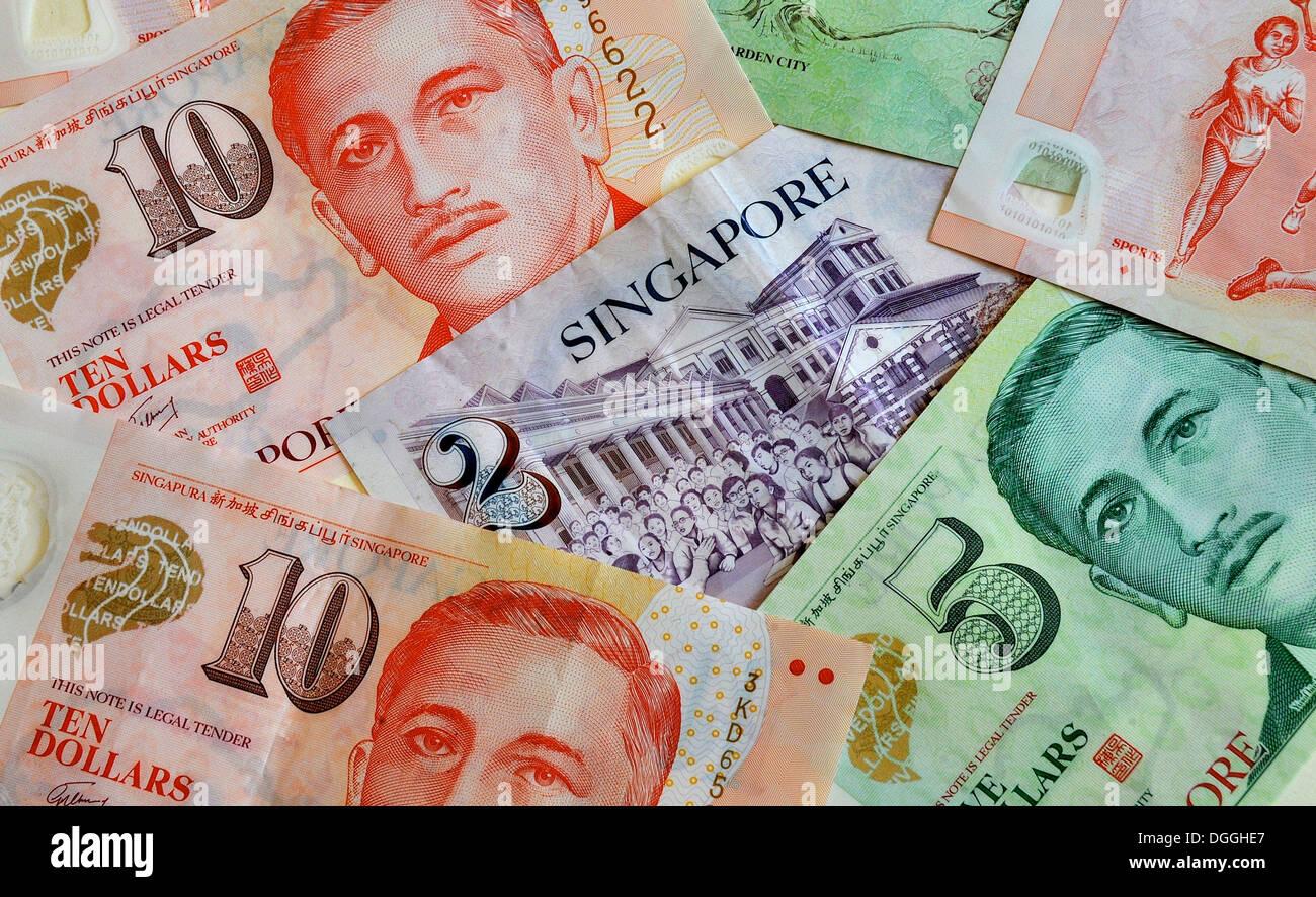 Singapore dollars notes - Stock Image