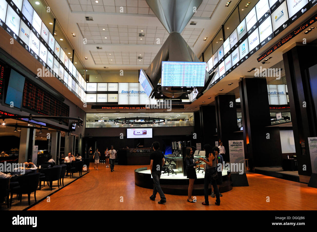 Visitor centre of Bovespa, the Sao Paulo Stock Exchange, Brazil, South America - Stock Image