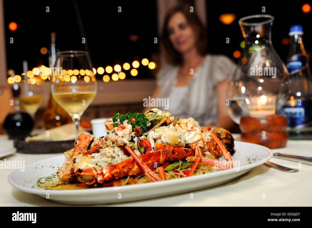 Lobster Dish At A Restaurant Cancun Yucatan Peninsula