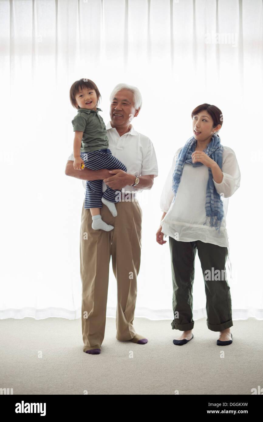 Three generation family, portrait - Stock Image