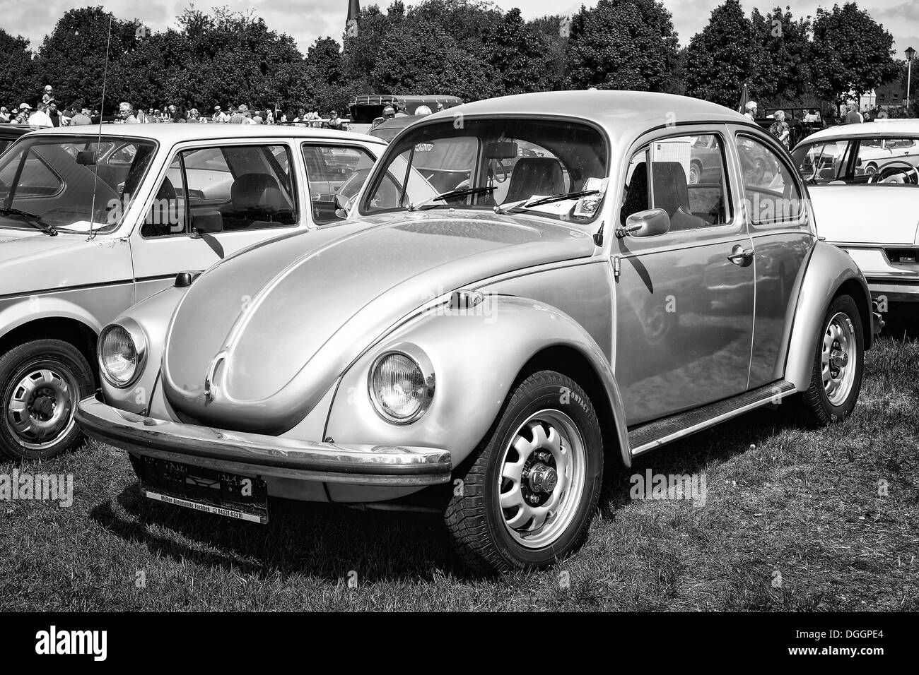 Car Volkswagen Beetle (black and white - Stock Image