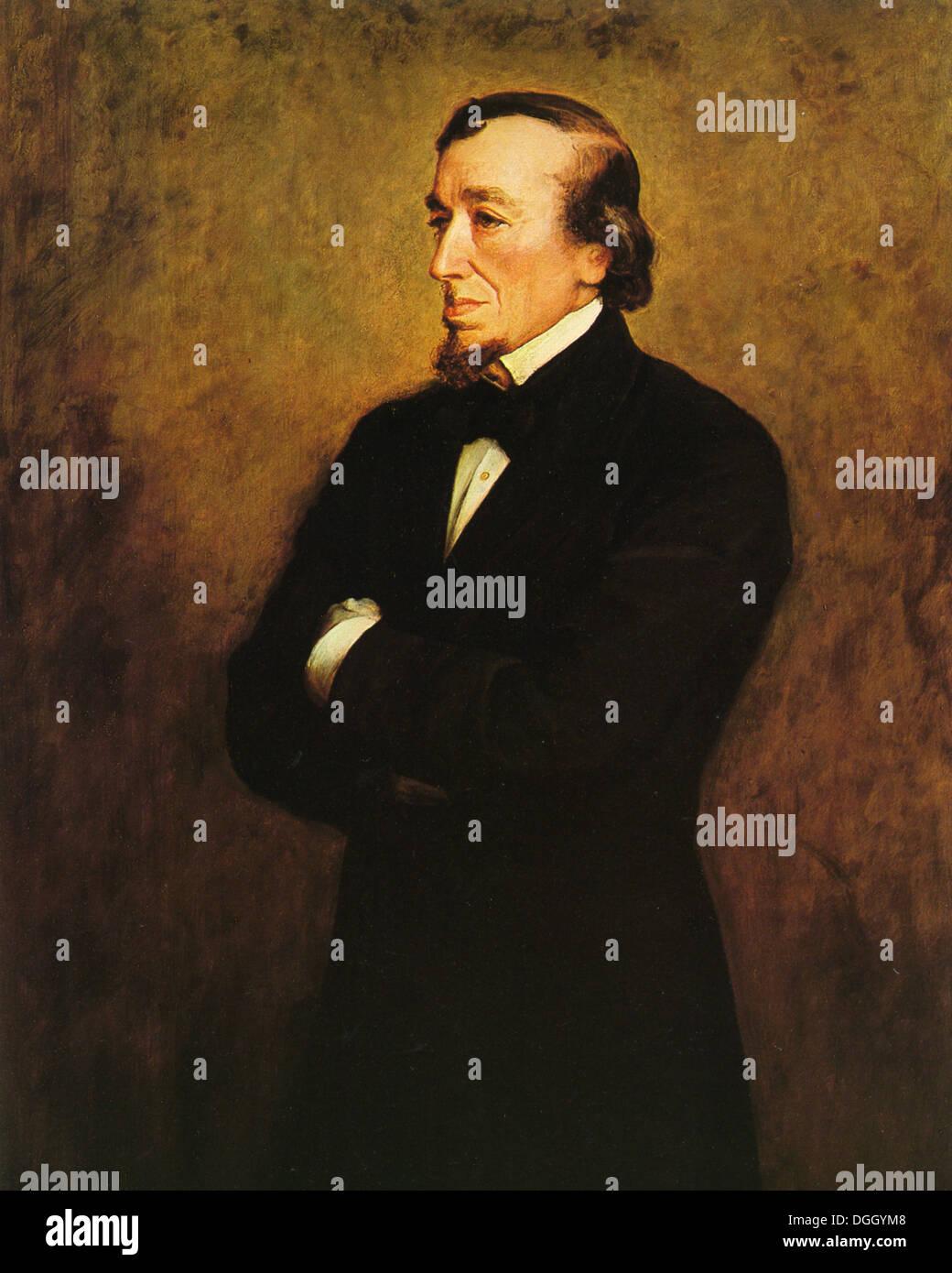 BENJAMIN DISRAELI (1804-1881) British Conservative politician and two times Prime Minister Stock Photo