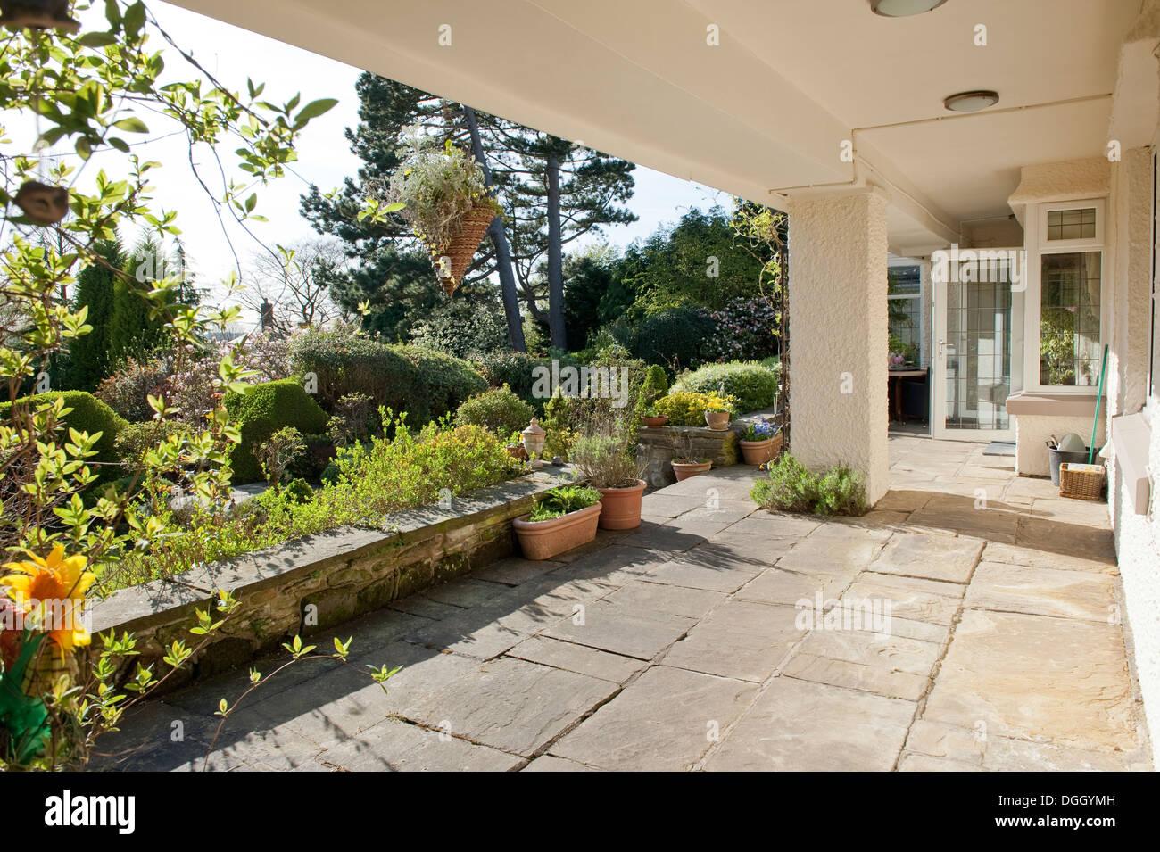 Covered Garden Terrace Veranda Country House Garden