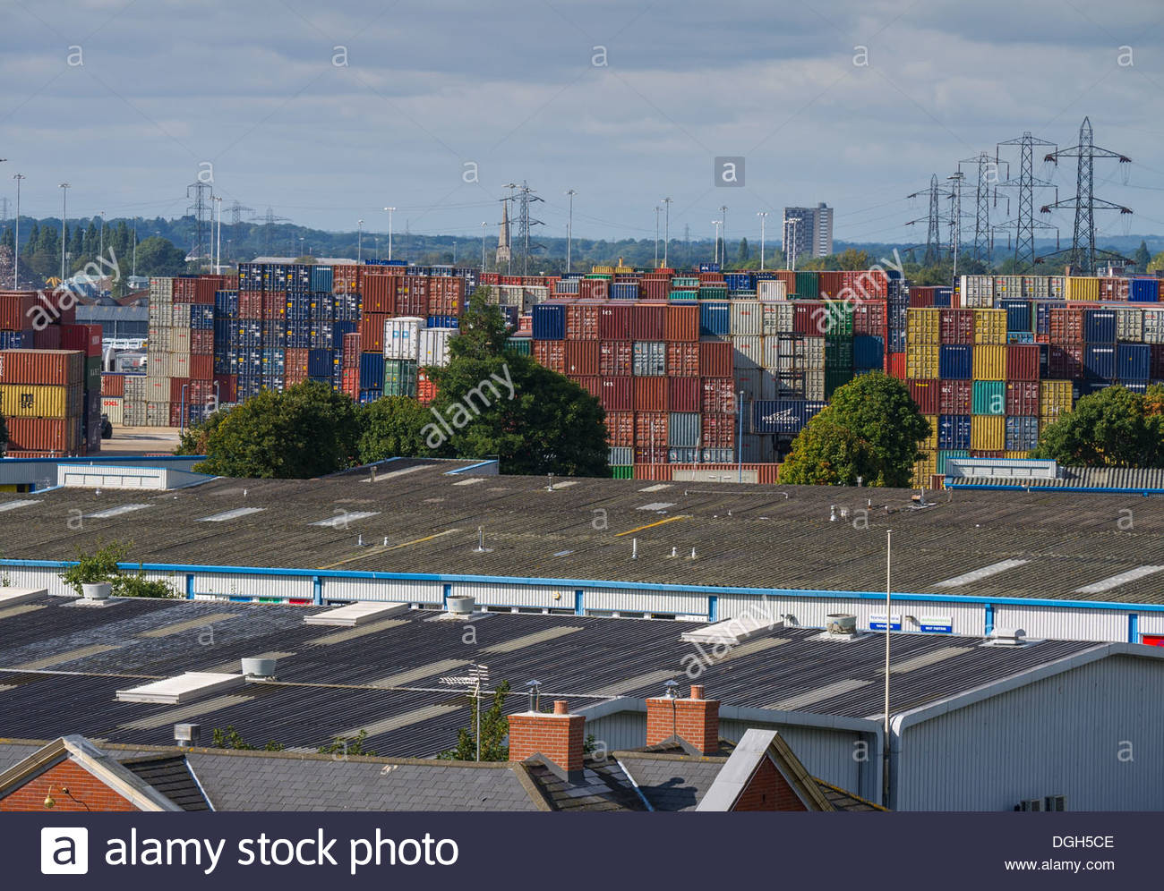 Southampton Container Terminal Hampshire England - Stock Image