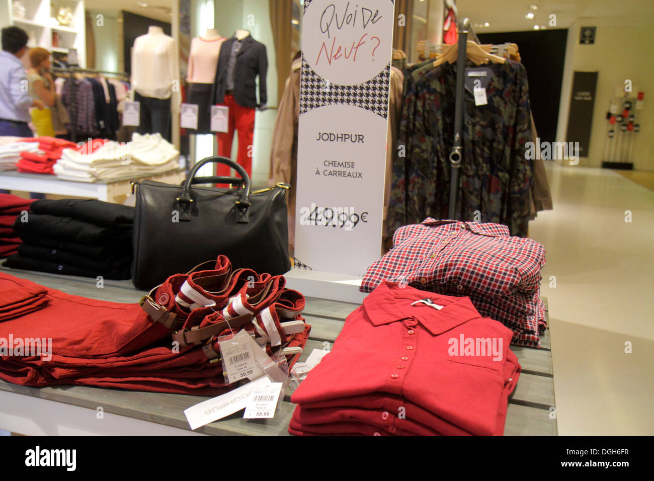 Paris France Europe French 9th arrondissement Boulevard Haussmann Galeries Lafayette department store shopping fashion retail di - Stock Image